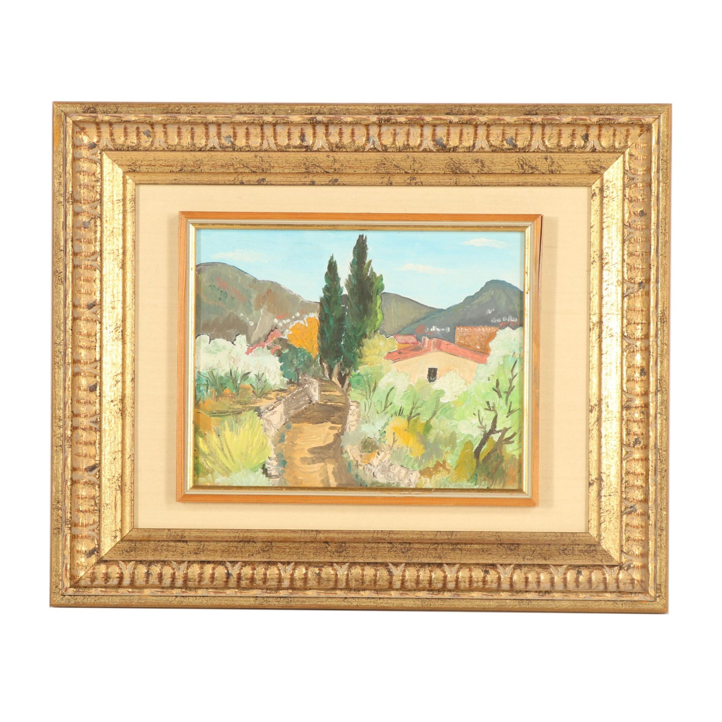 Pap Reeves Oil Painting of Tuscan Landscape