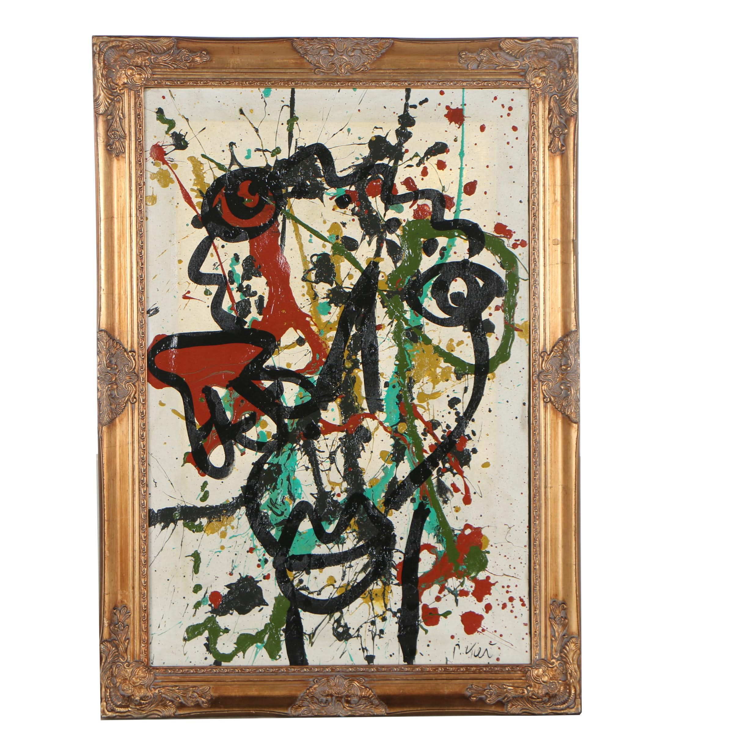 Peter Robert Keil Abstract Oil Painting