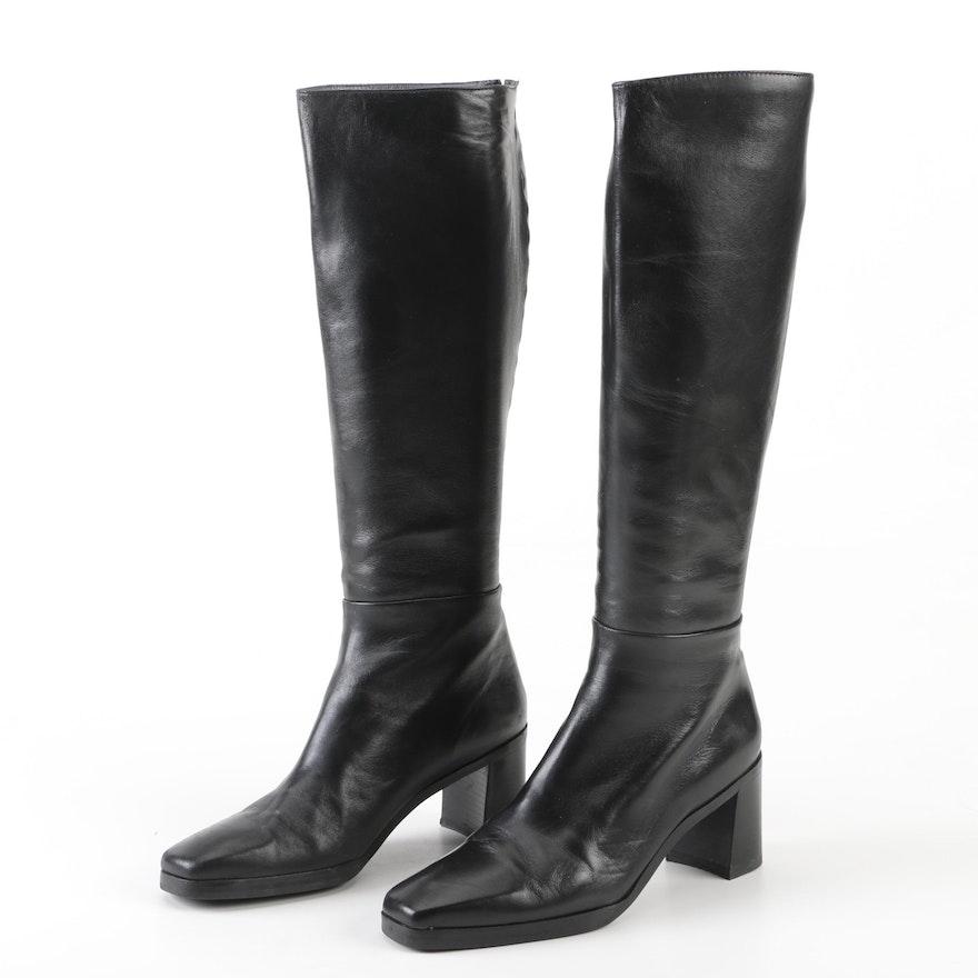 ebd0a3ced45 Stuart Weitzman Derban Black Leather Tall Boots