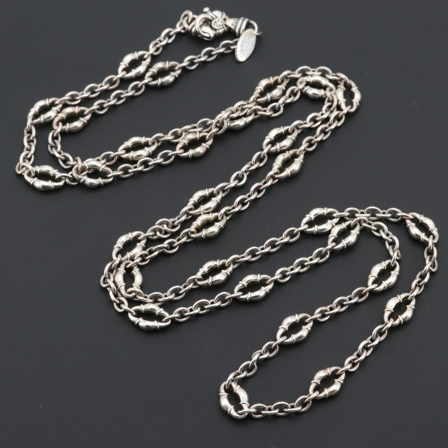 f55124498 Scott Kay Sterling Silver Chain with Amethyst Closure : EBTH