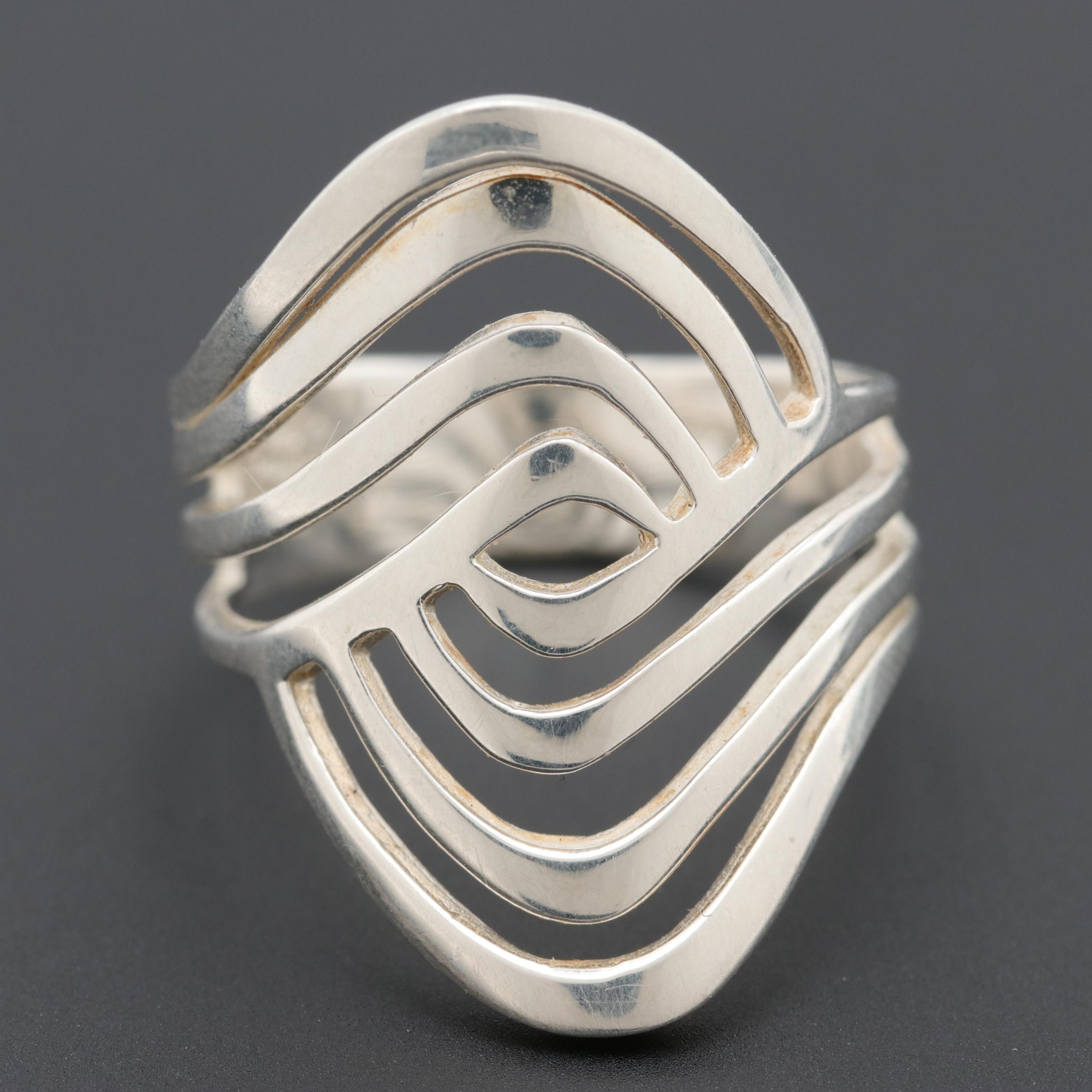 Sterling Silver Open Work Ring