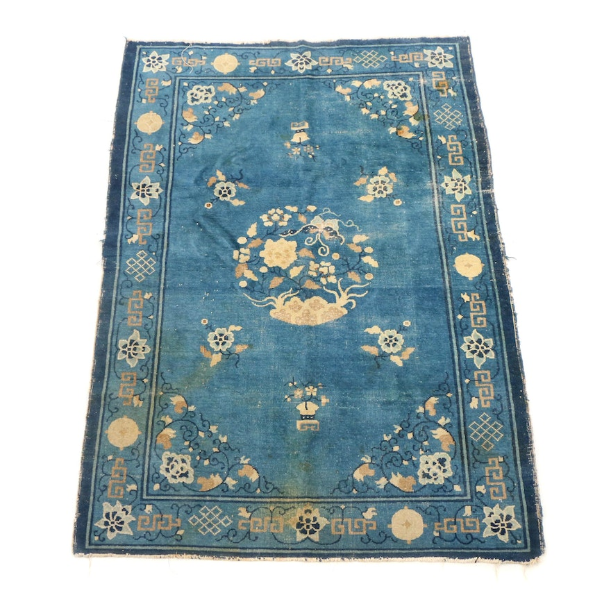 Hand Knotted Chinese Peking Wool Rug Ebth