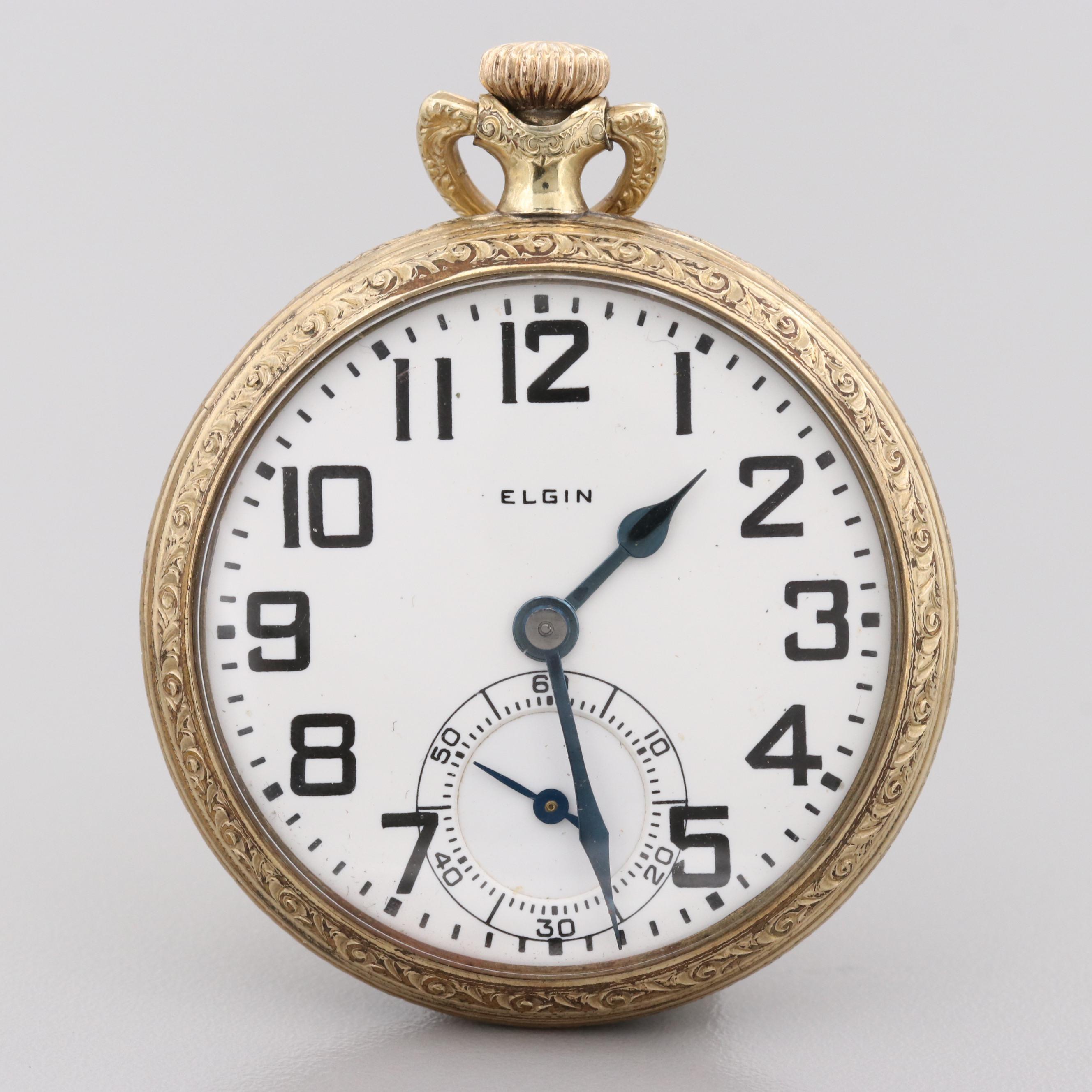 Elgin B.W. Raymond Gold Filled Pocket Watch, 1927