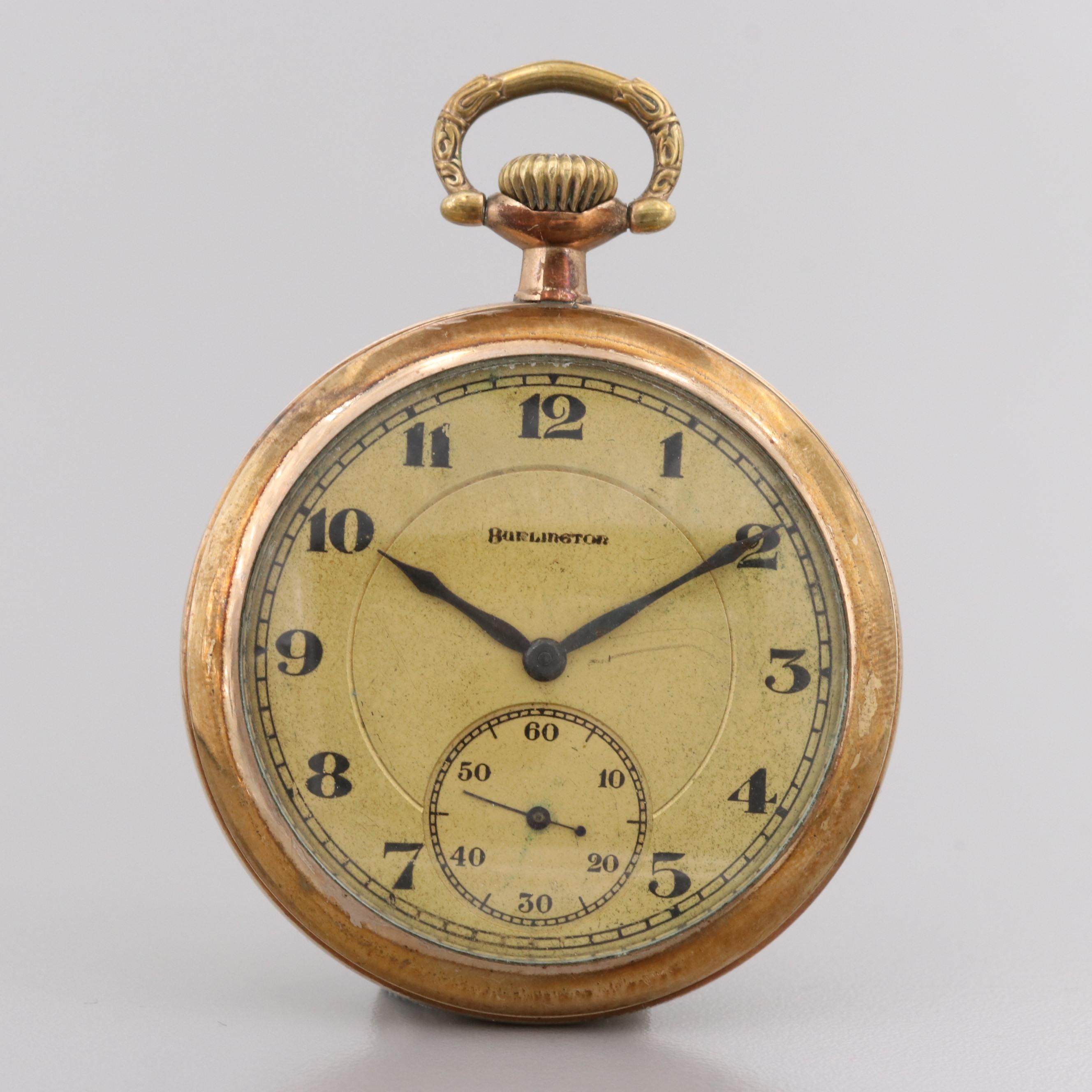 Burlington Gold Filled Pocket Watch, 1920