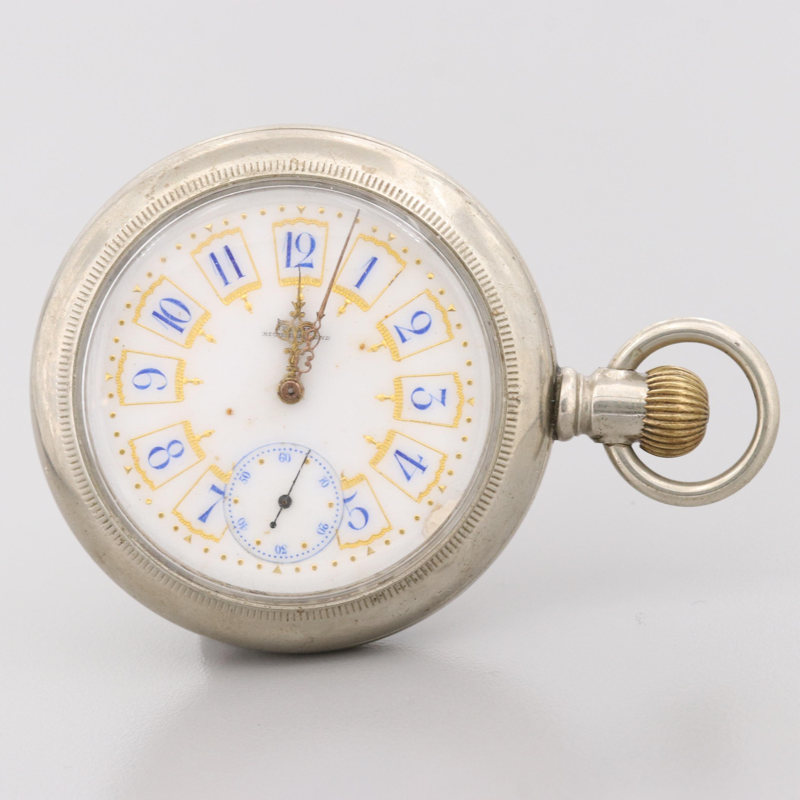 Antique Jenkins Sidewinder Pocket Watch
