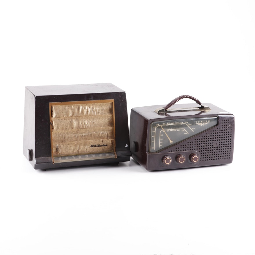 1950s Zenith 7H922 and RCA Victor Model 1-X-591 Radios