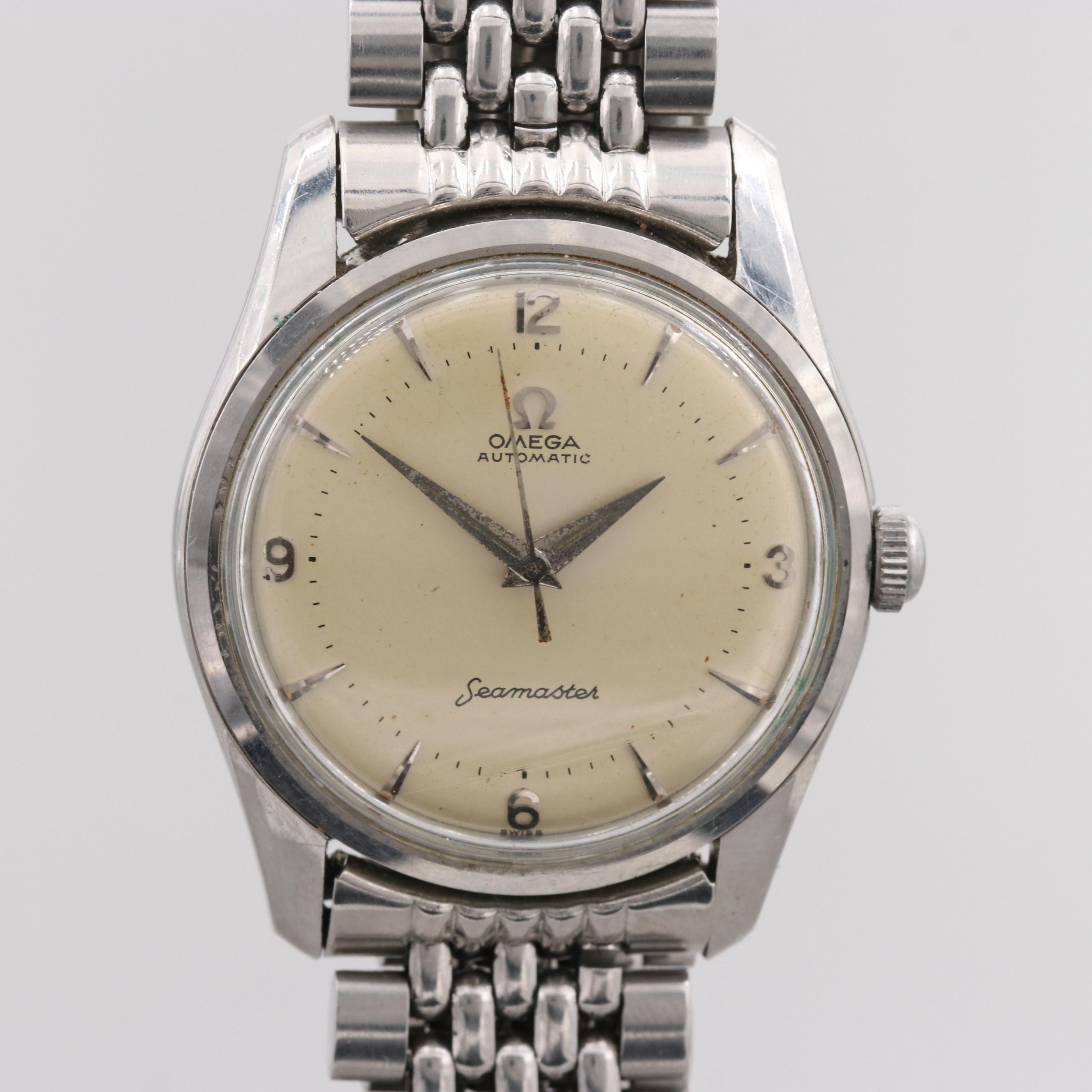 Vintage Omega Seamaster Stainless Steel Wristwatch