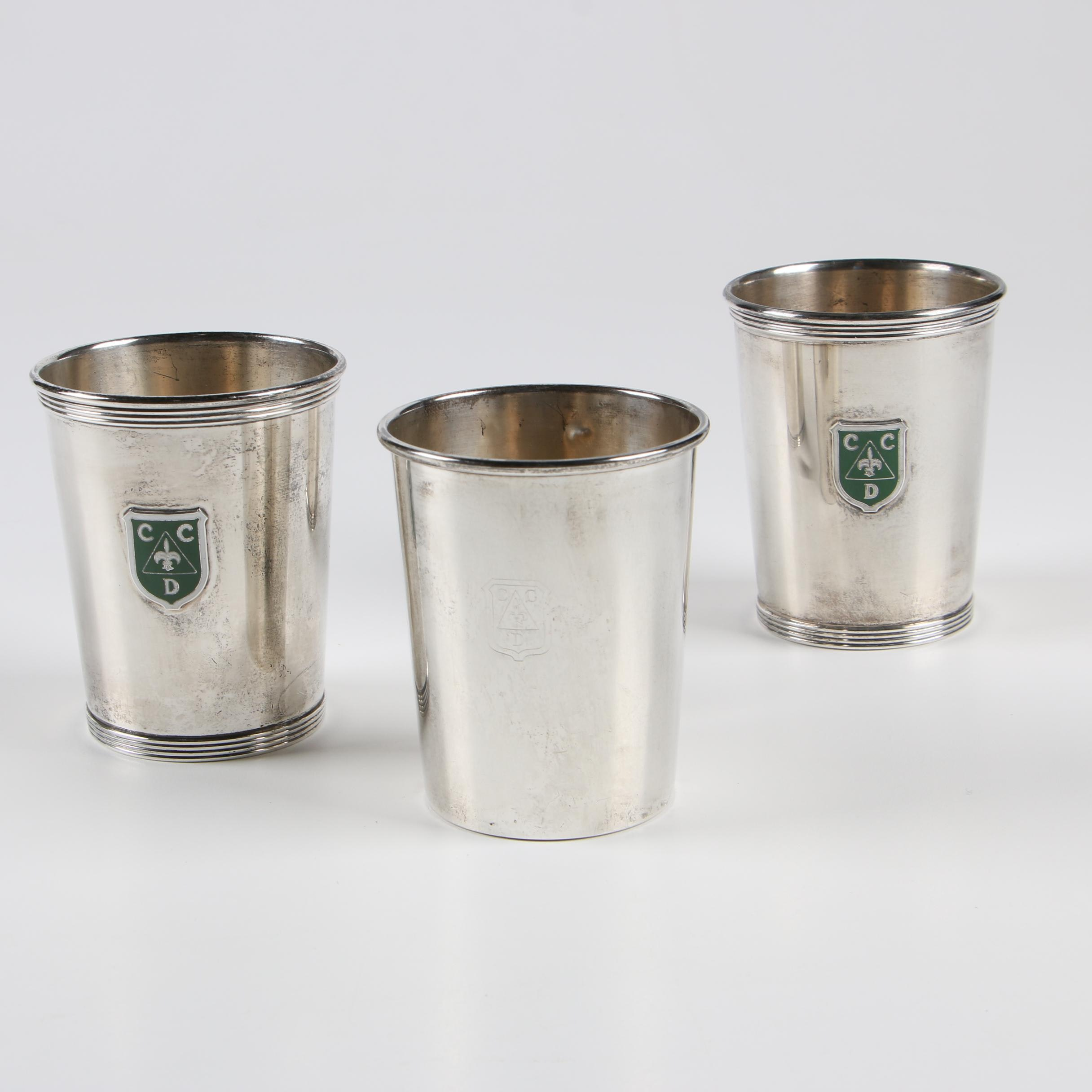 Alvin Sterling Silver Cincinnati Country Day Mint Julep Cups, Early 20th Century