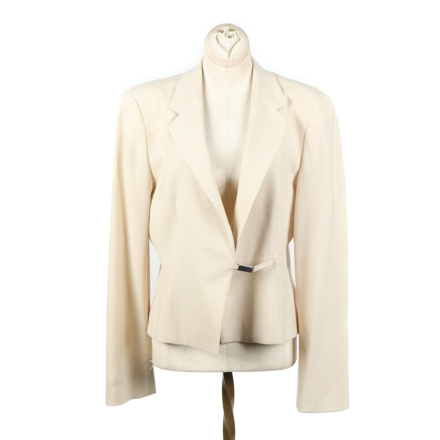 7e19758b37e8 Women's Armani Collezioni Cream Wool Blend Jacket, Made in Italy : EBTH