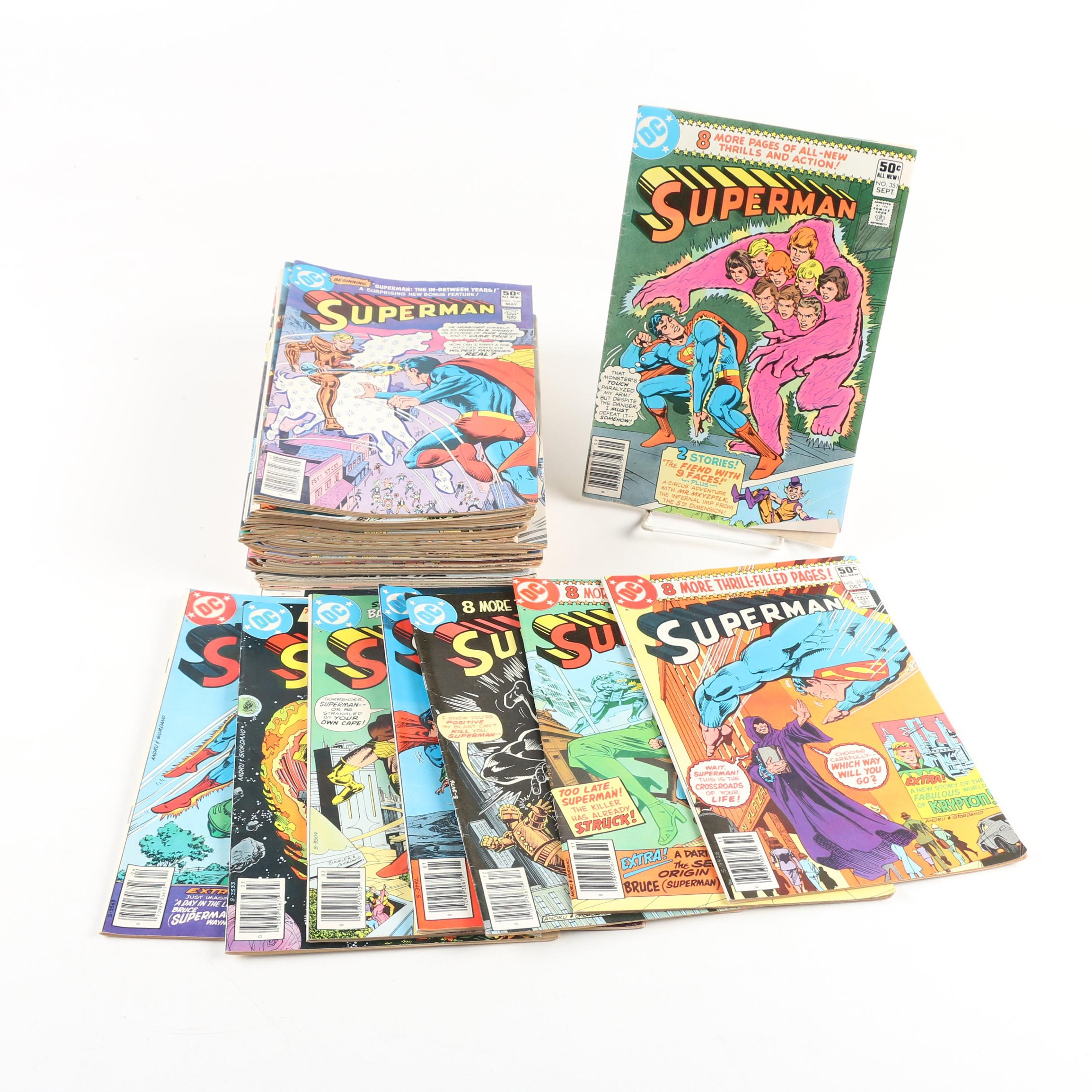 "Bronze Age ""Superman"" Comic Books, Early 1980s"