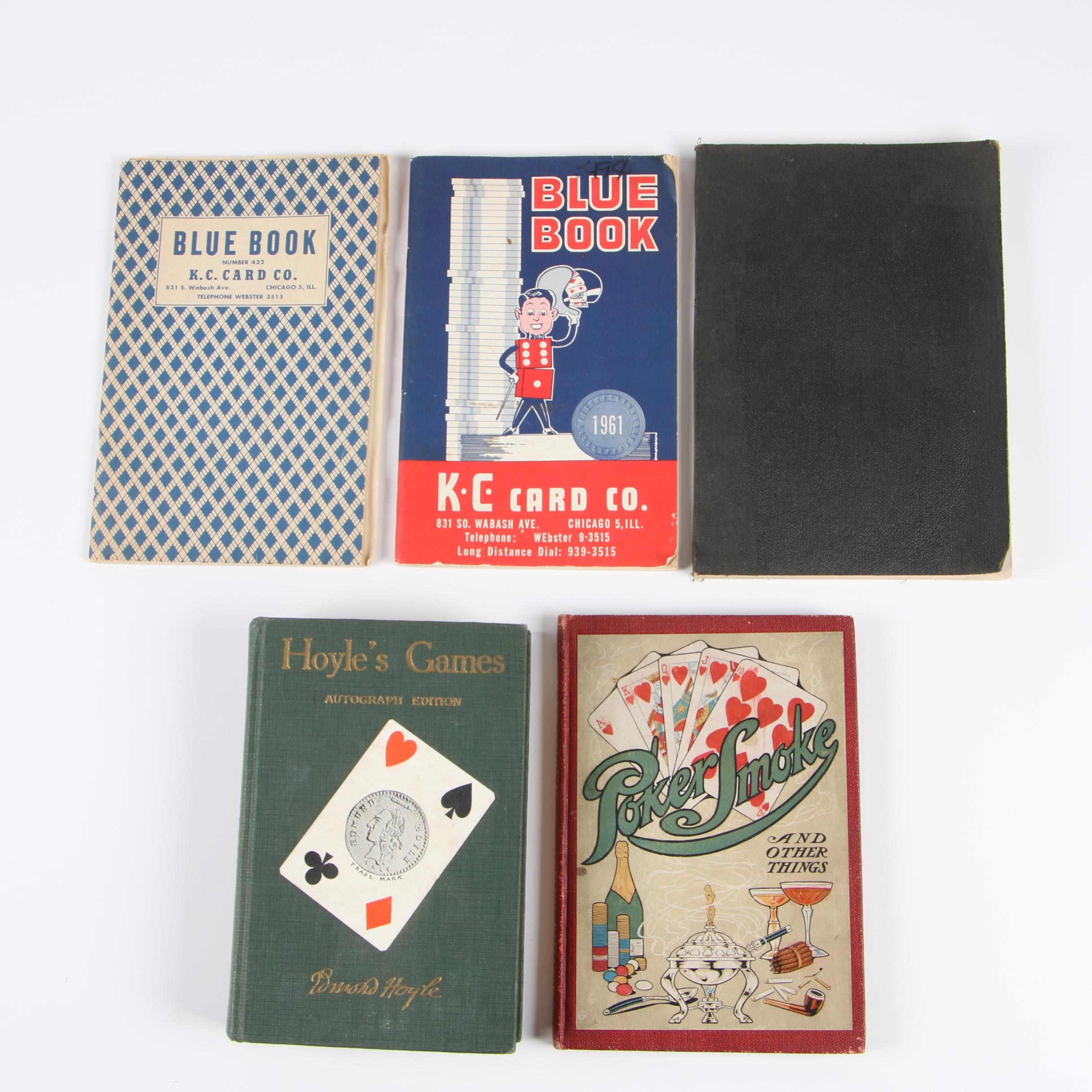 """Hoyle's Games"" Autograph Edition with other Books on Cards and Gambling, 1929"
