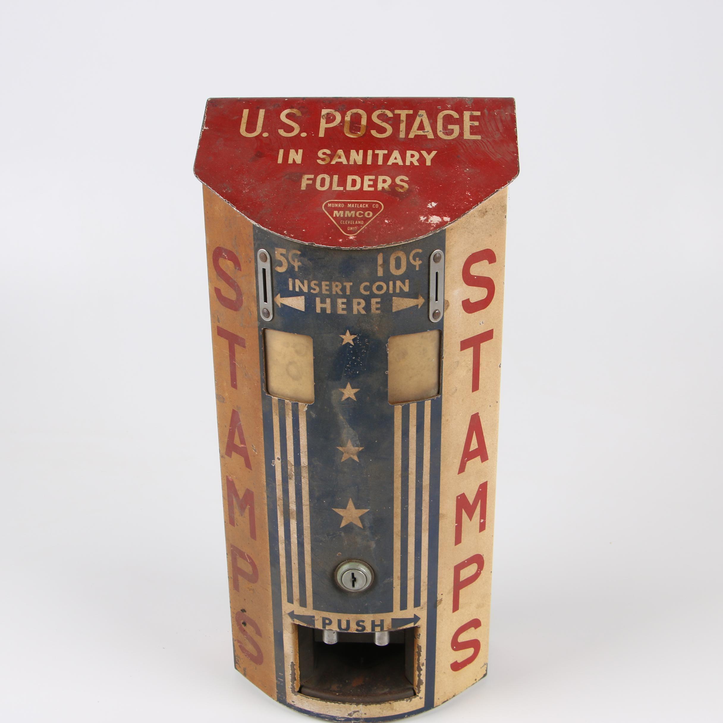 Munro Matlack Co. Sanitary U.S. Postage Stamp Dispenser