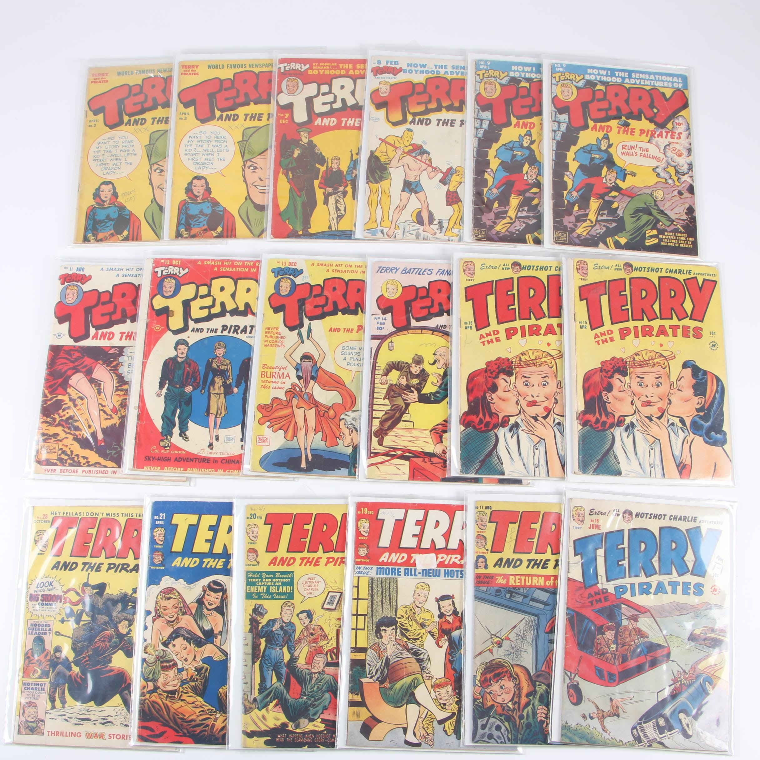"""Golden Age """"Terry and the Pirates"""" Comic Books, 1940s"""