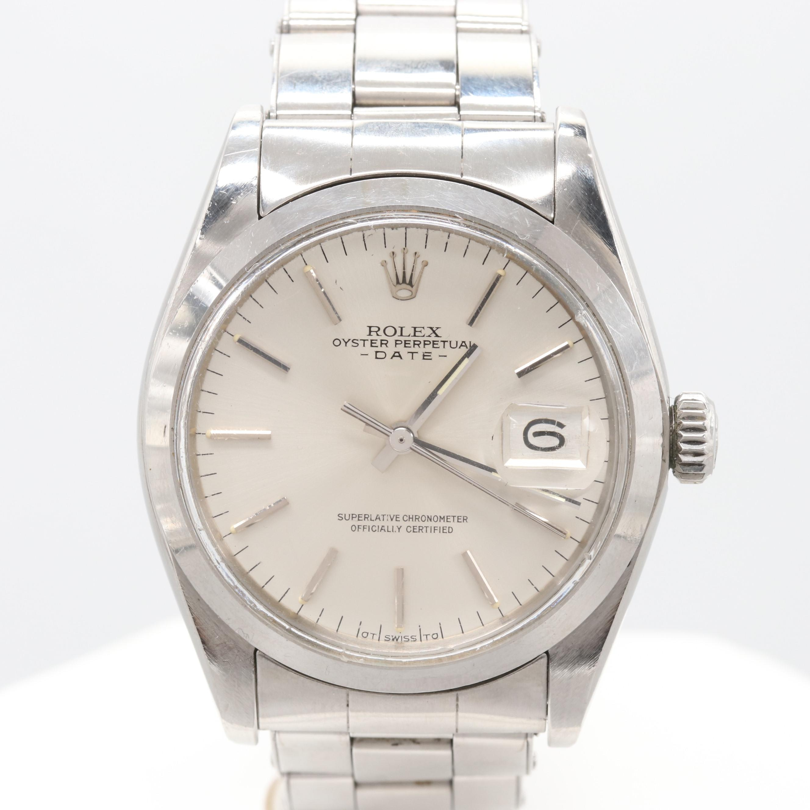 Vintage Rolex Oyster Perpetual Date 1500 Wristwatch