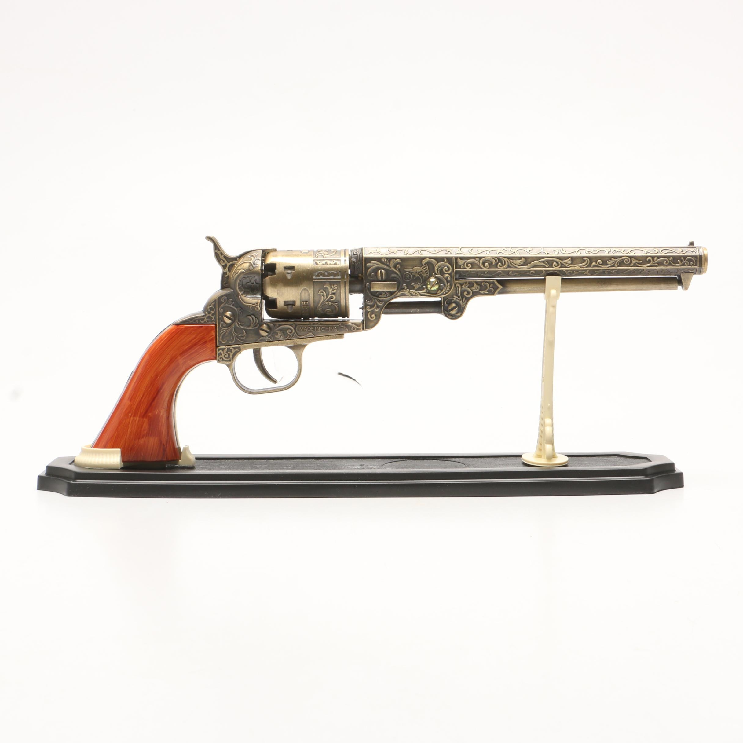 "Replica ""The U.S. 36"" Colt Revolver Pistol on Stand"