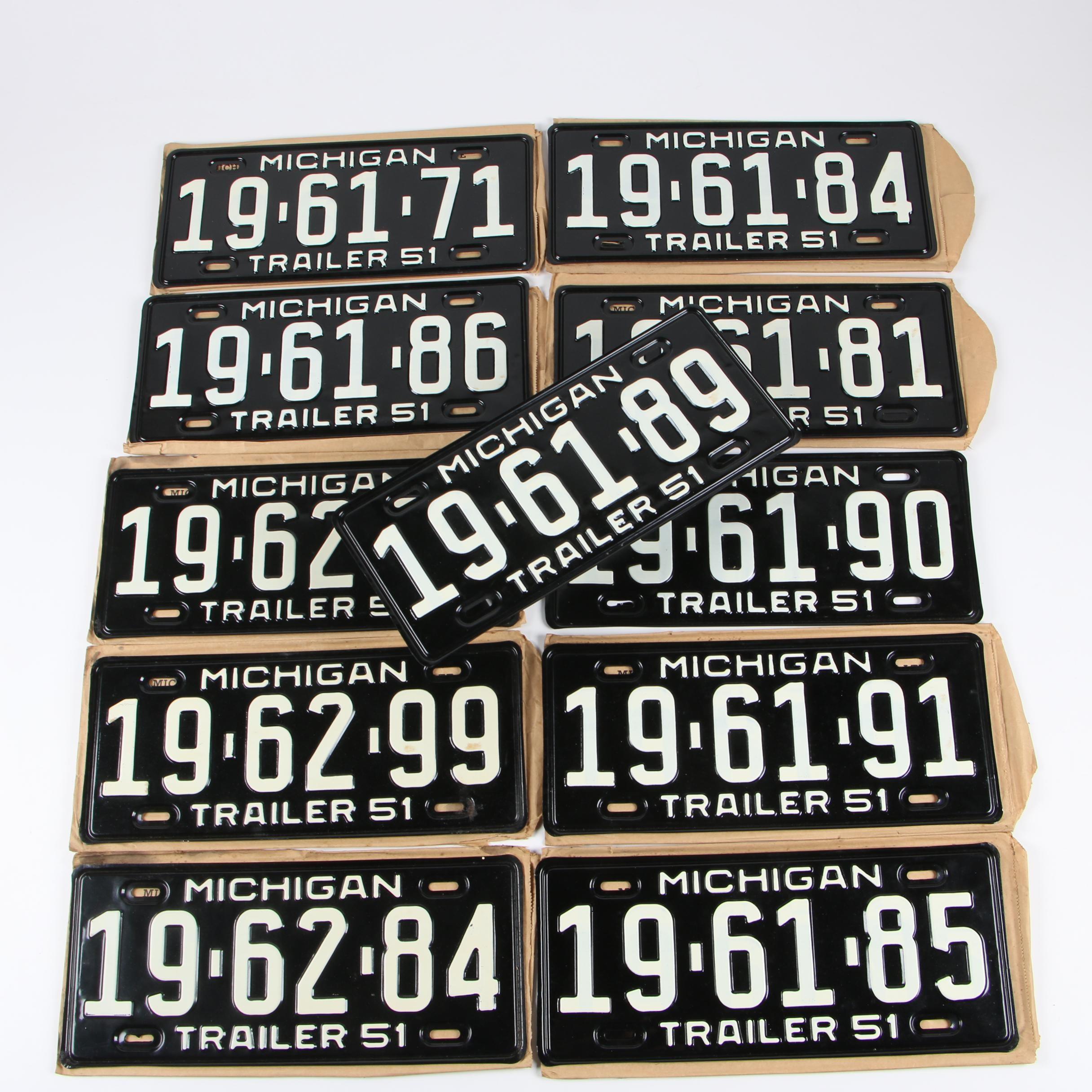 Michigan License Plates, 1951