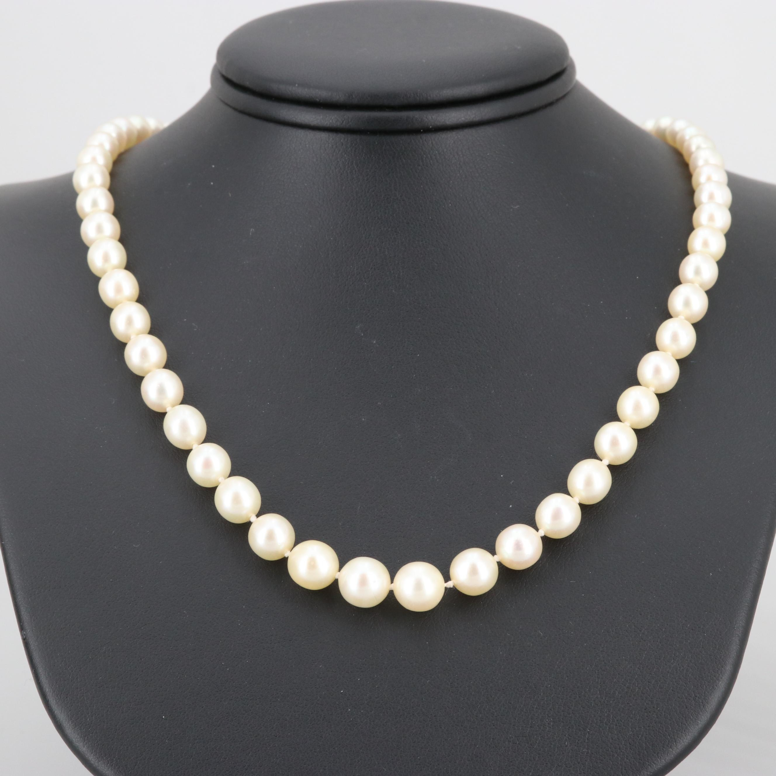 Platinum and 14K Gold Cultured Pearl, Rhodolite Garnet and Diamond Necklace