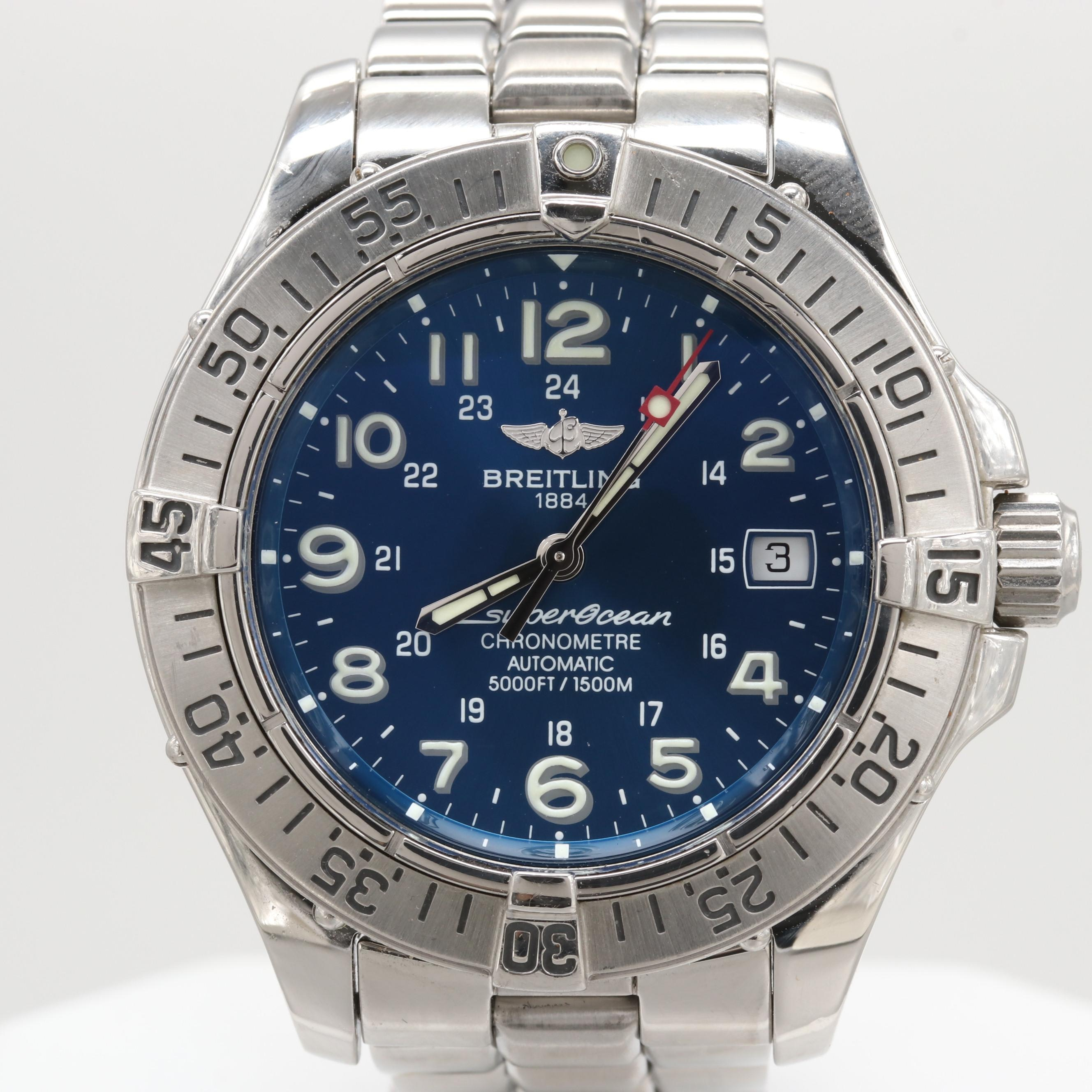 Breitling SuperOcean 1500m Automatic Stainless Steel Wristwatch