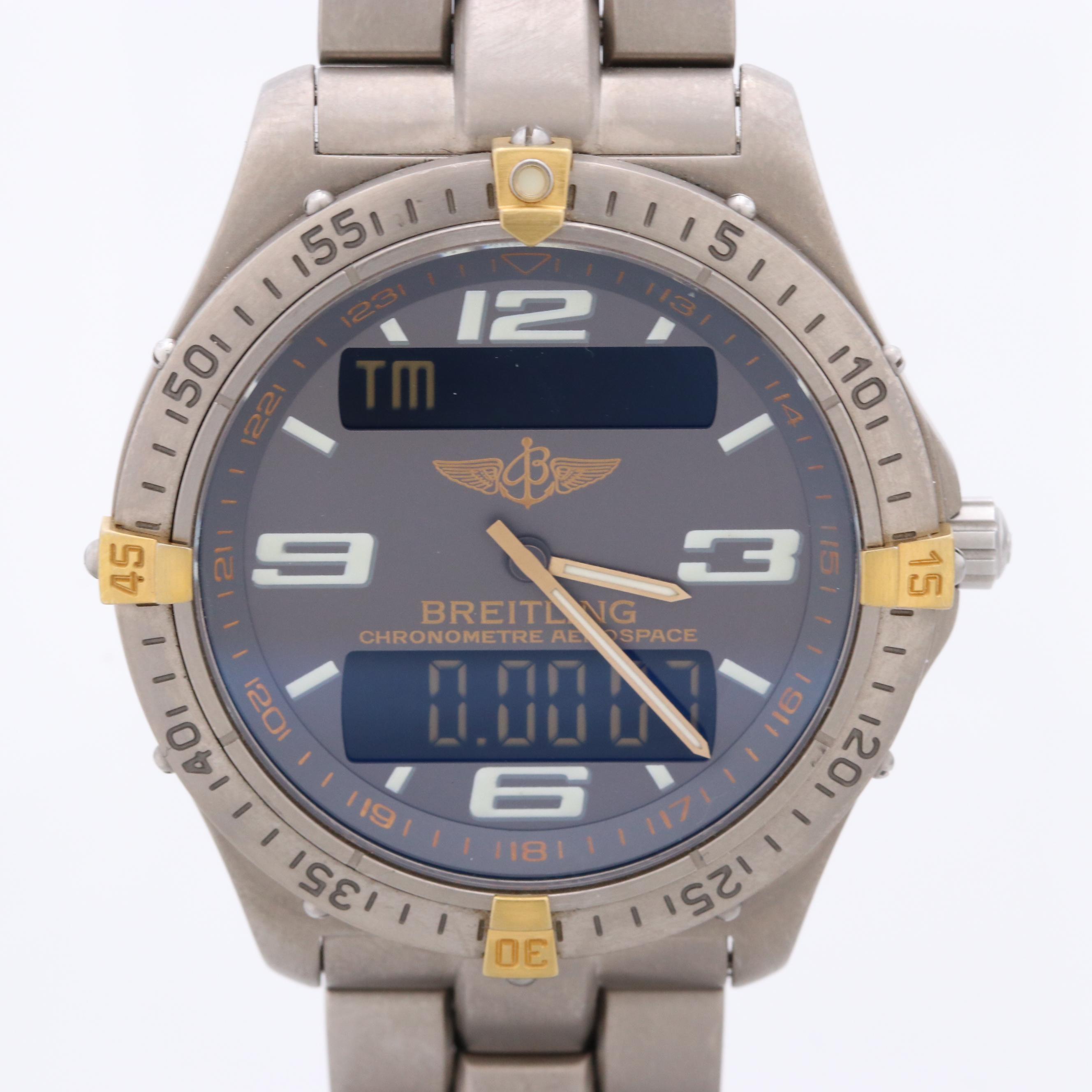 Breitling Aerospace Titanium Quartz Wristwatch