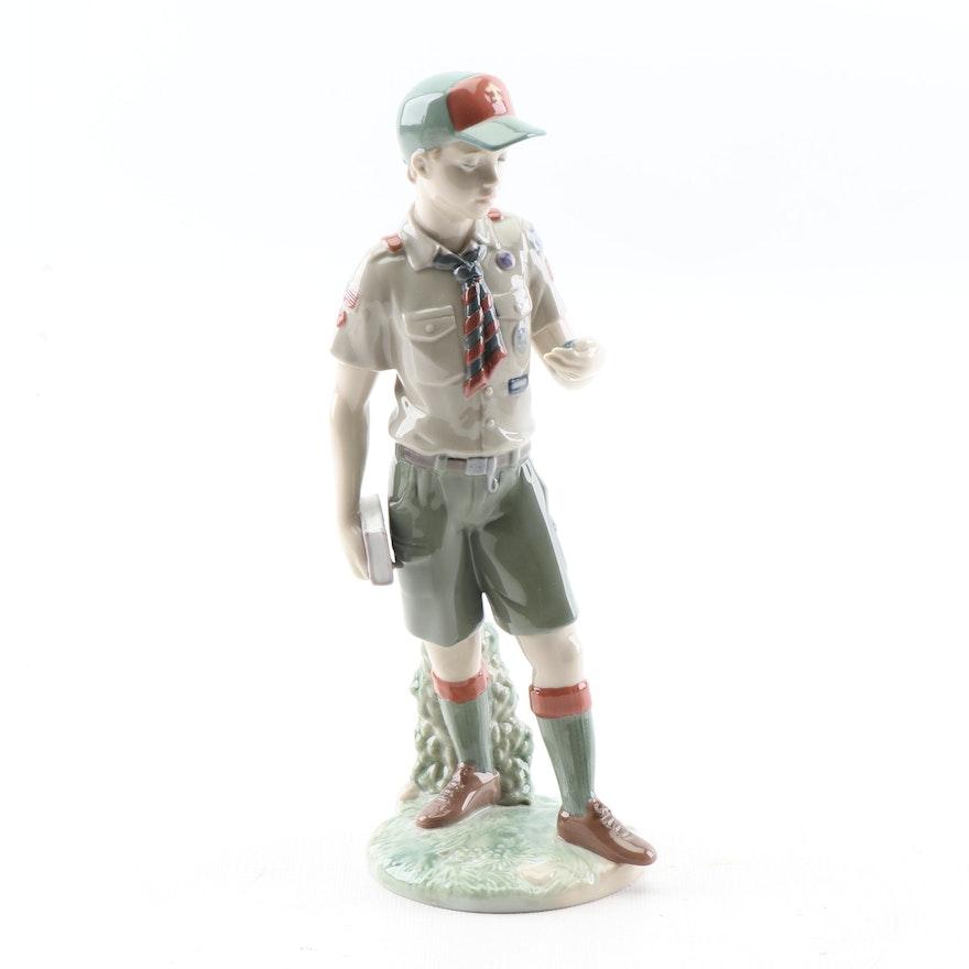 "Lladro ""Classic Scout"" Porcelain Figurine, circa 2010"