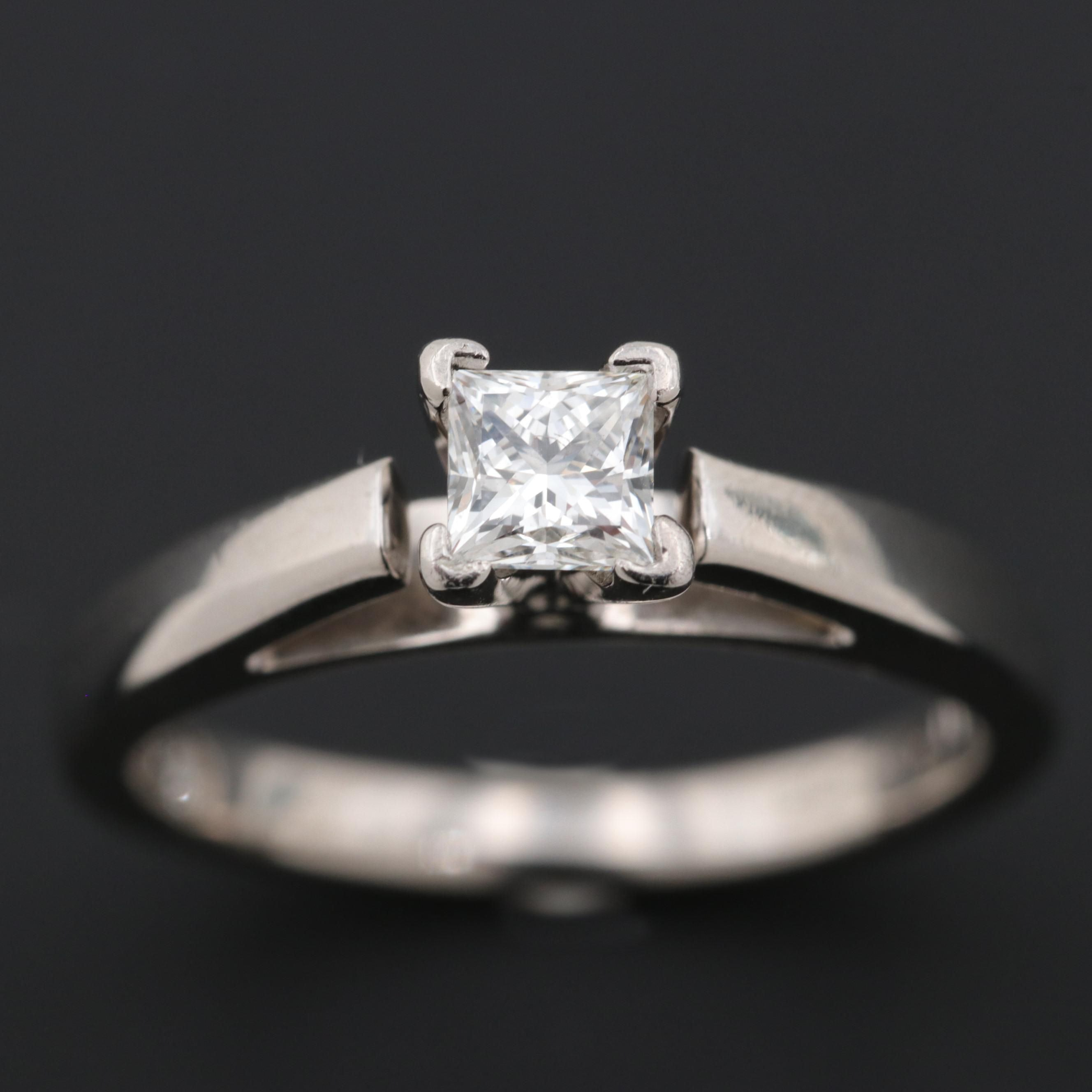 """The Leo"" 14K White Gold Platinum Diamond Solitaire Ring"