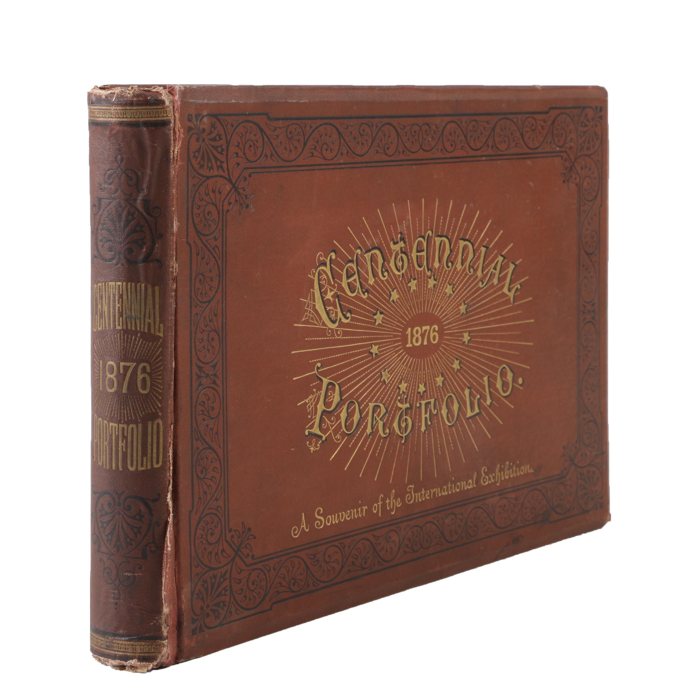 """Centennial Portfolio"" International Exhibition Book by Thompson Westcott, 1876"