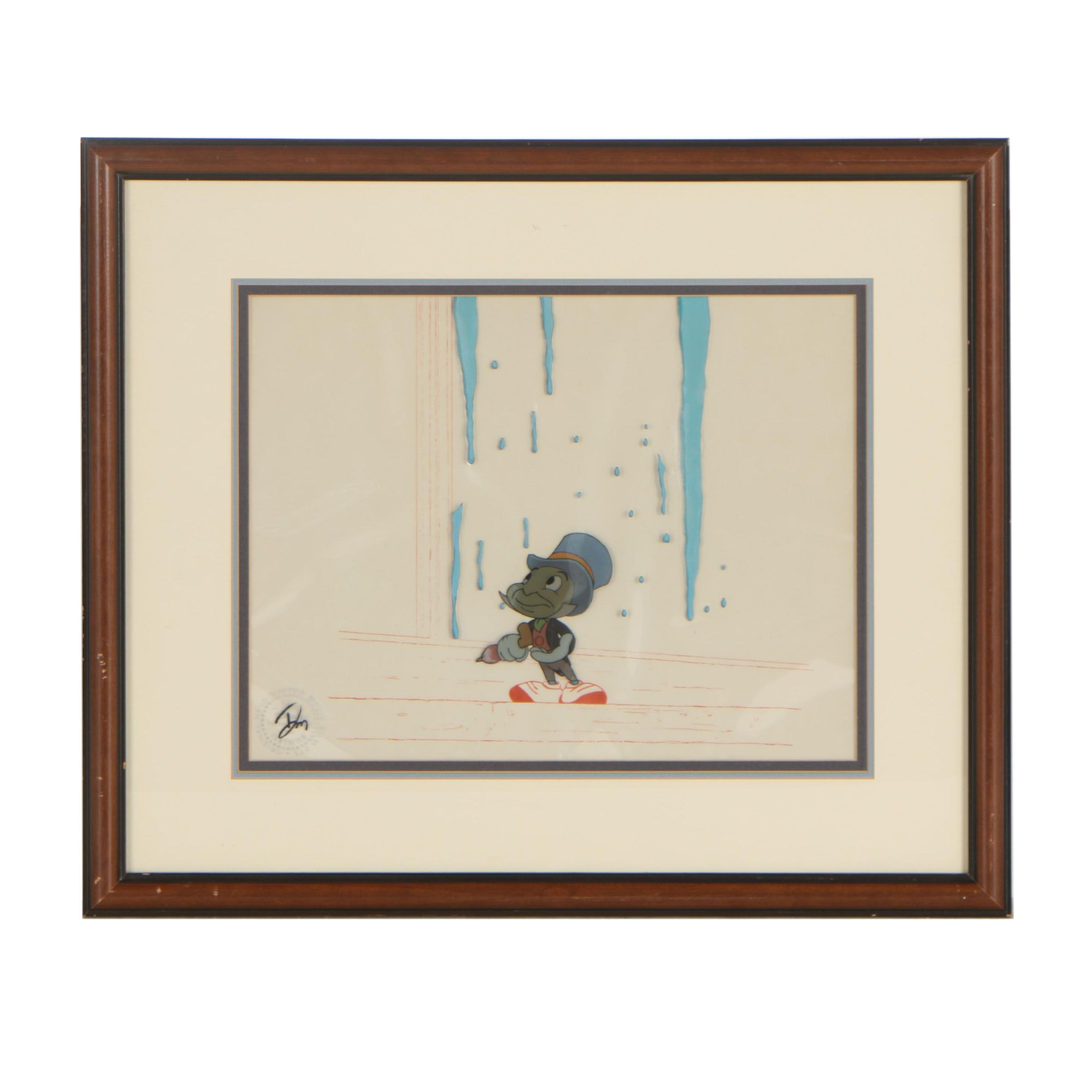 """Hand-Painted Production Cel from """"Mickey's Christmas Carol"""", 1983"""