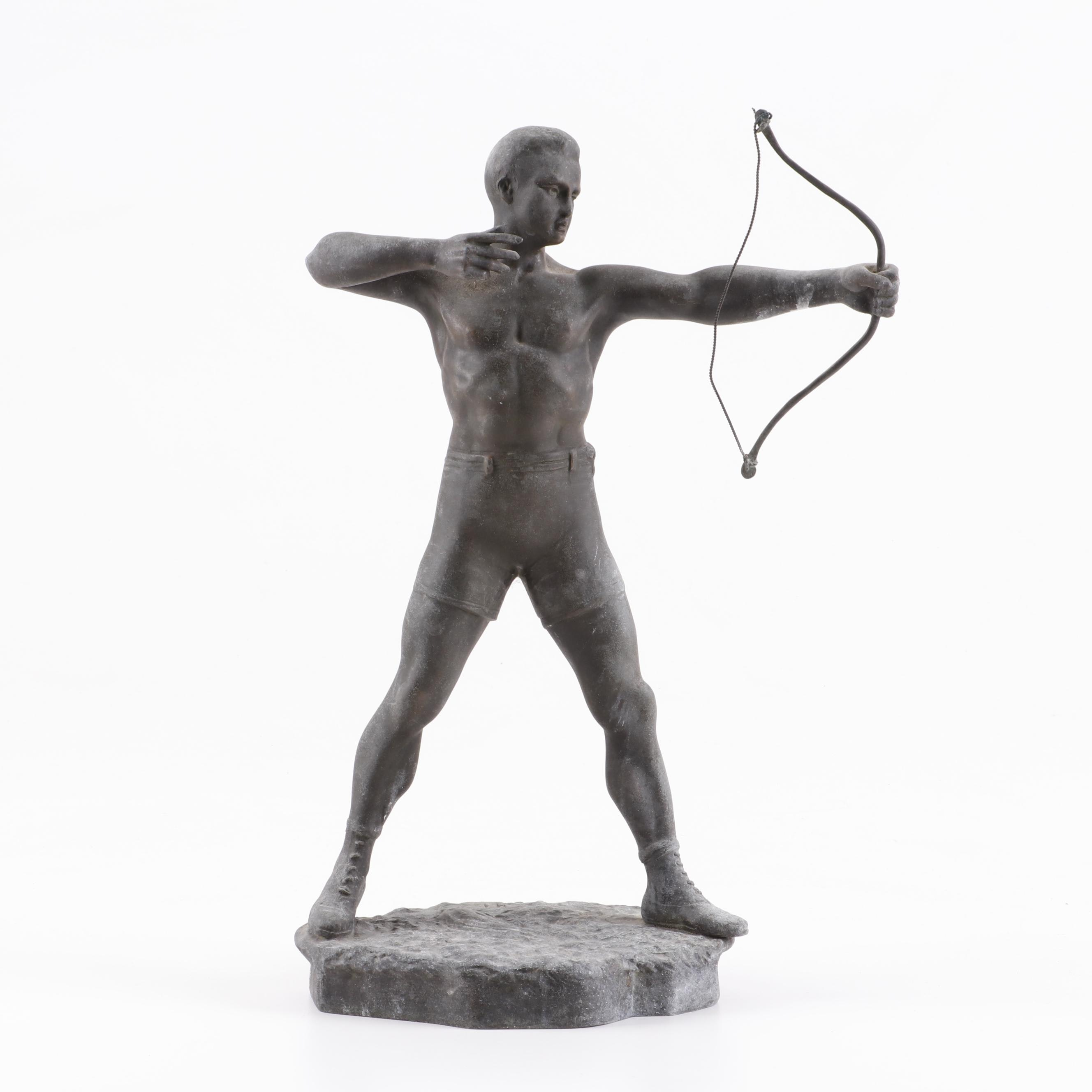French Spelter Sculpture of Archer