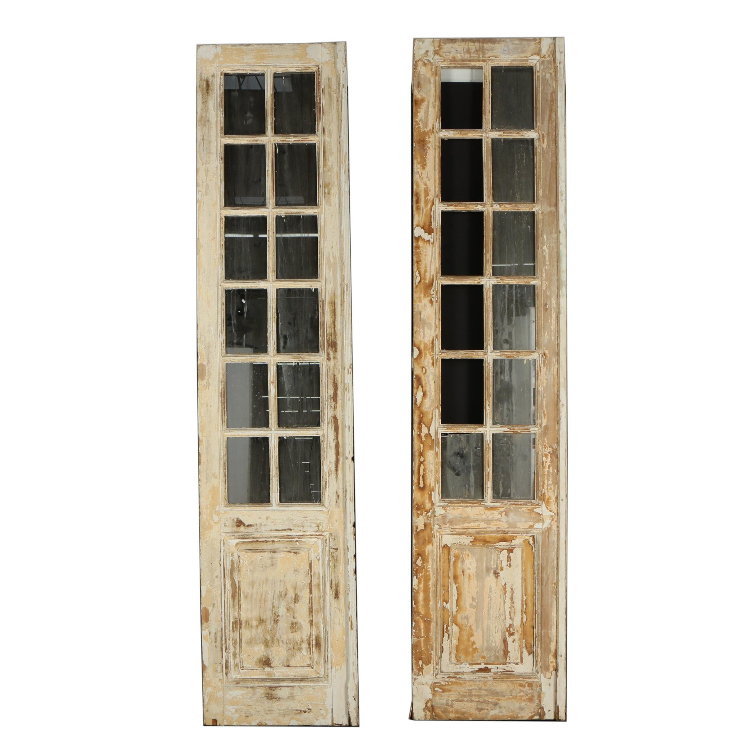 Rusticated Pine French Doors with Mirrored Panes