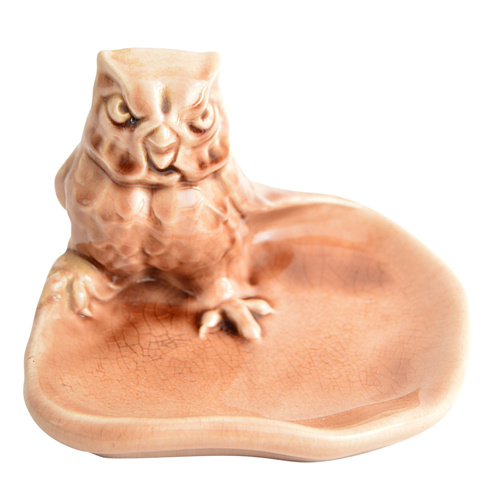 1951 Rookwood Pottery Owl Pin Tray