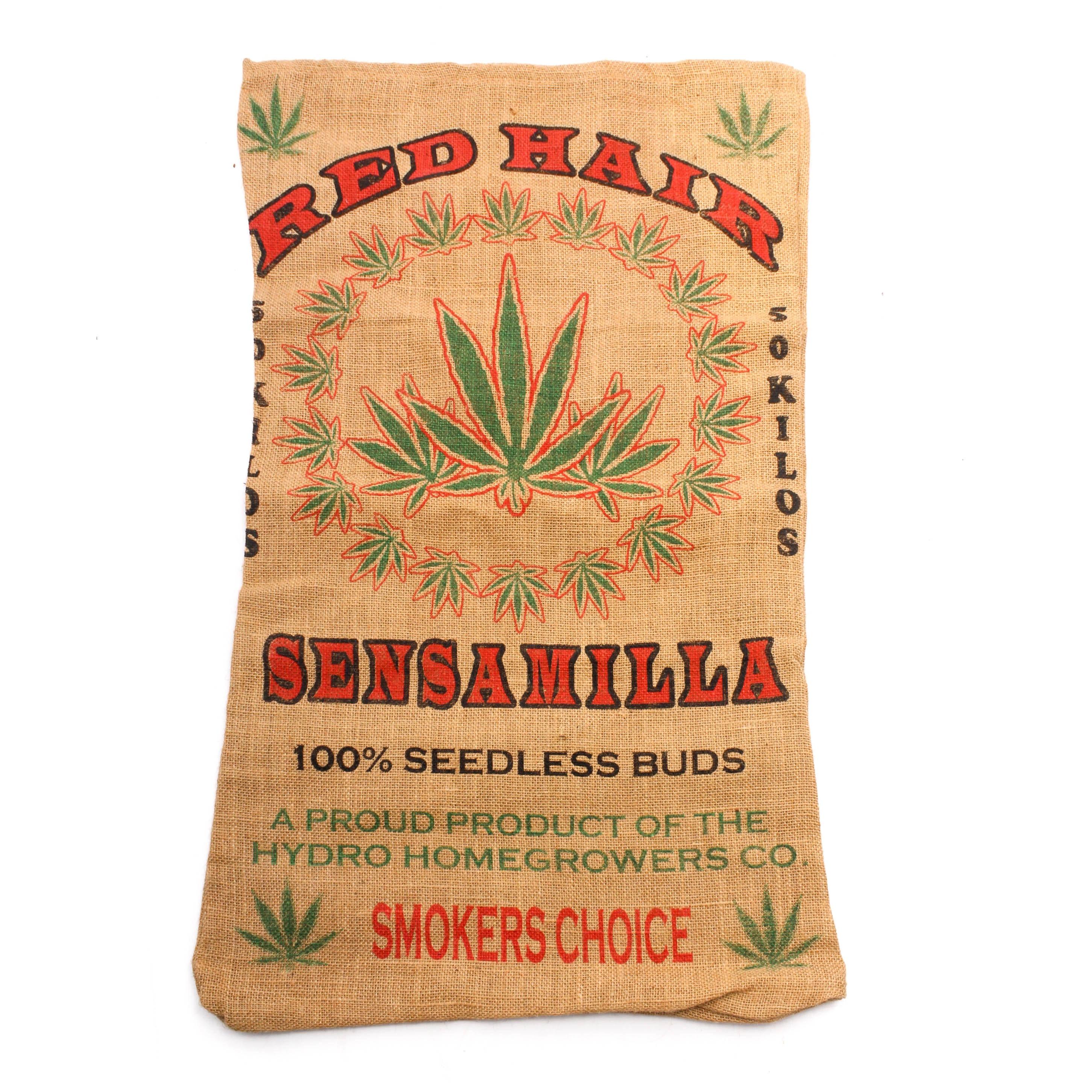 Red Hair Sensamilla Burlap Bag