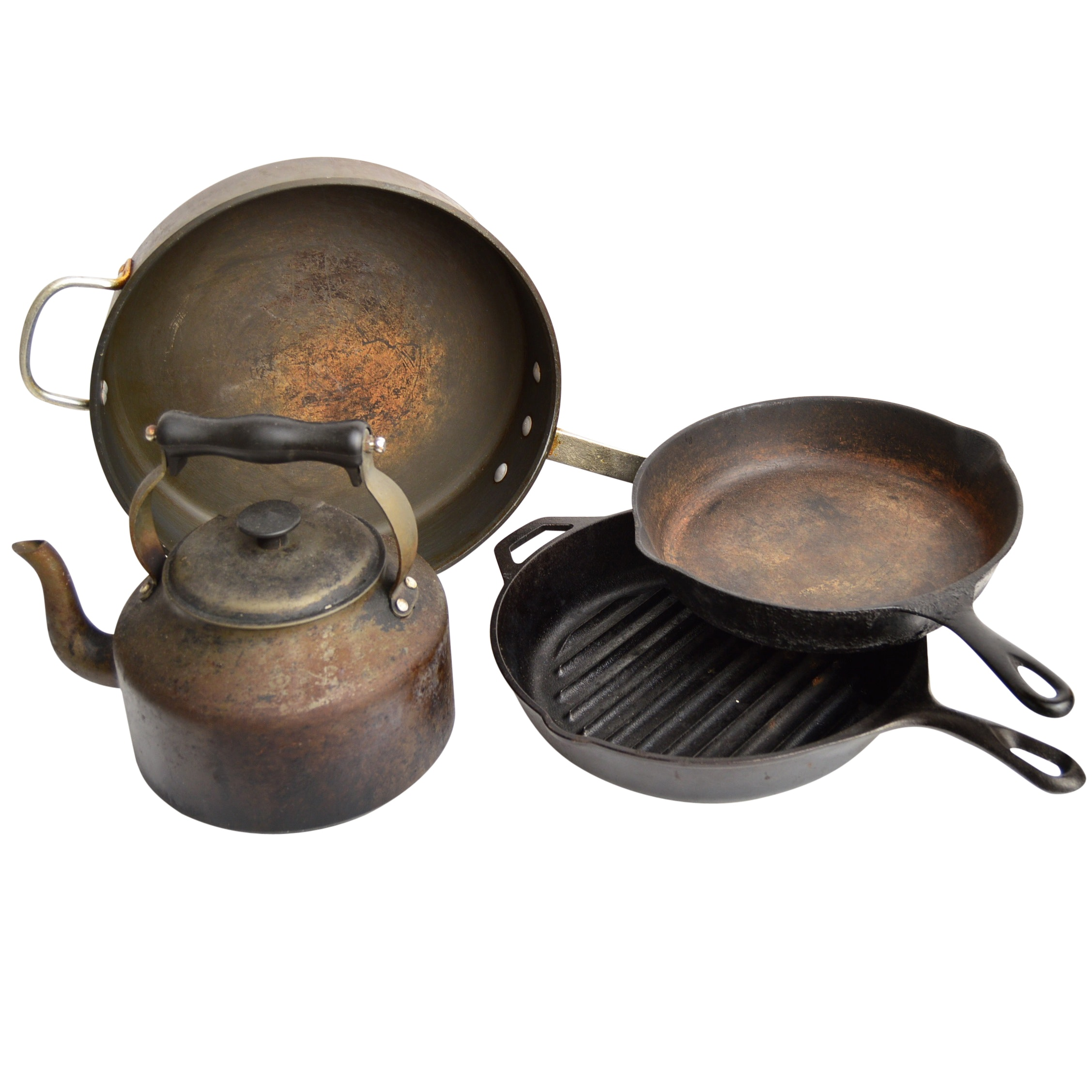 Vintage Iron Cookware with Caphalon, Lodge, Wagner Ware