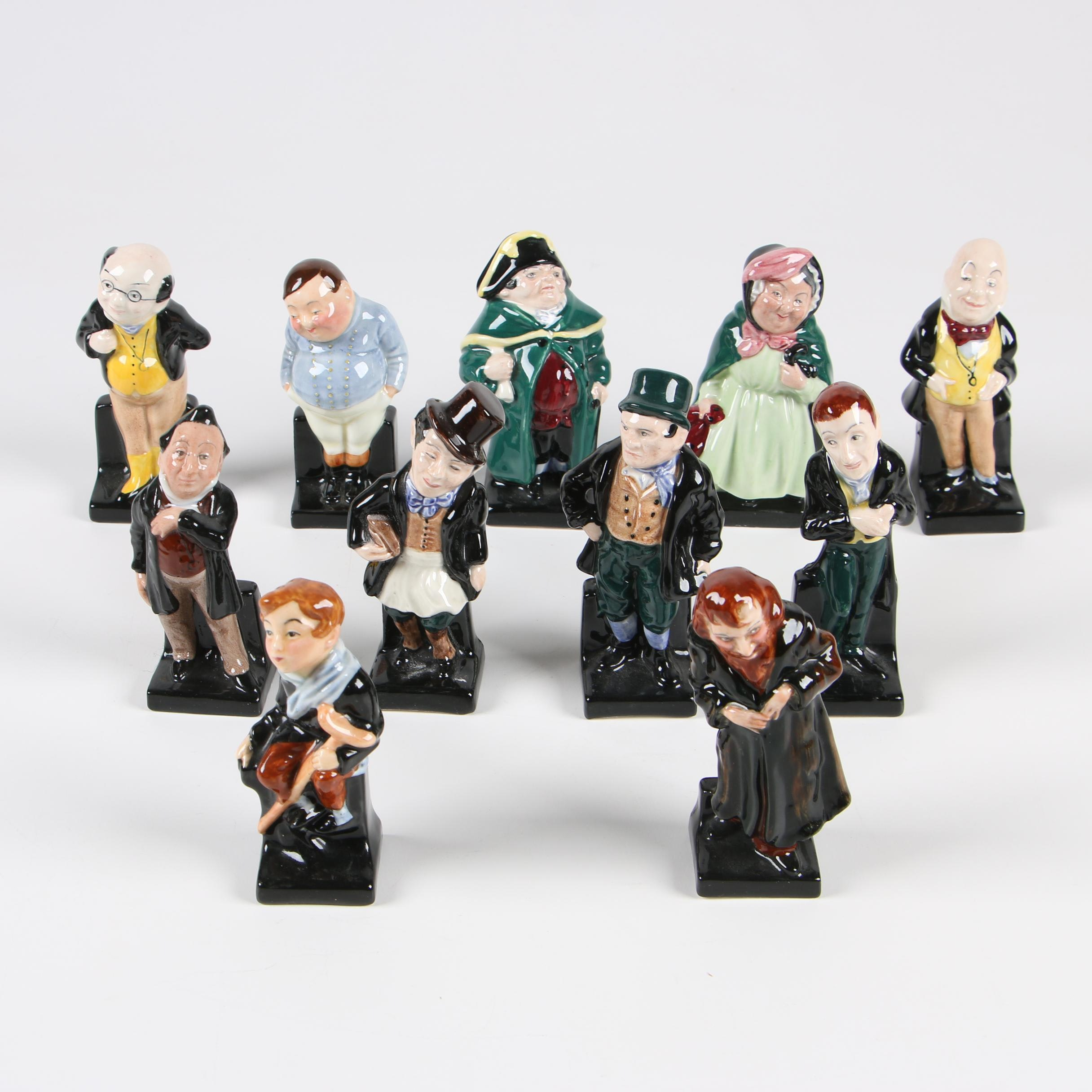 Royal Doulton Charles Dickens Figurines, Mid-Century