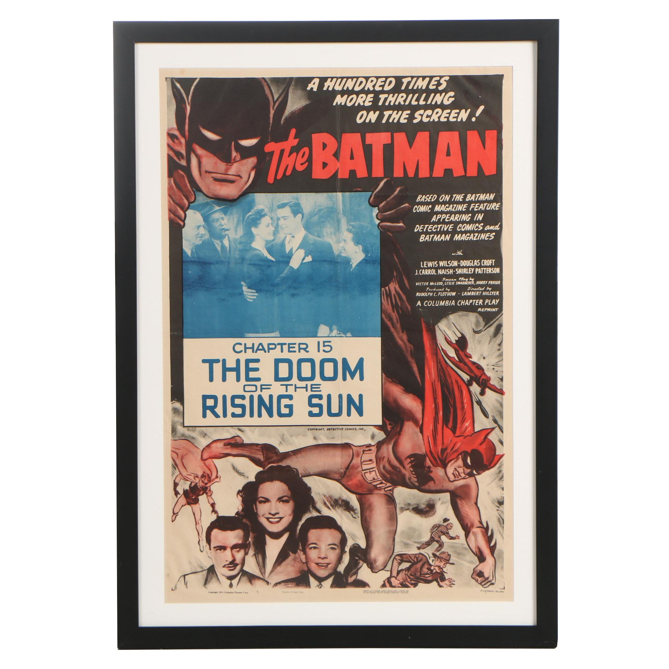 "Theatrical Re-Release One-Sheet Poster ""The Batman"", 1954"