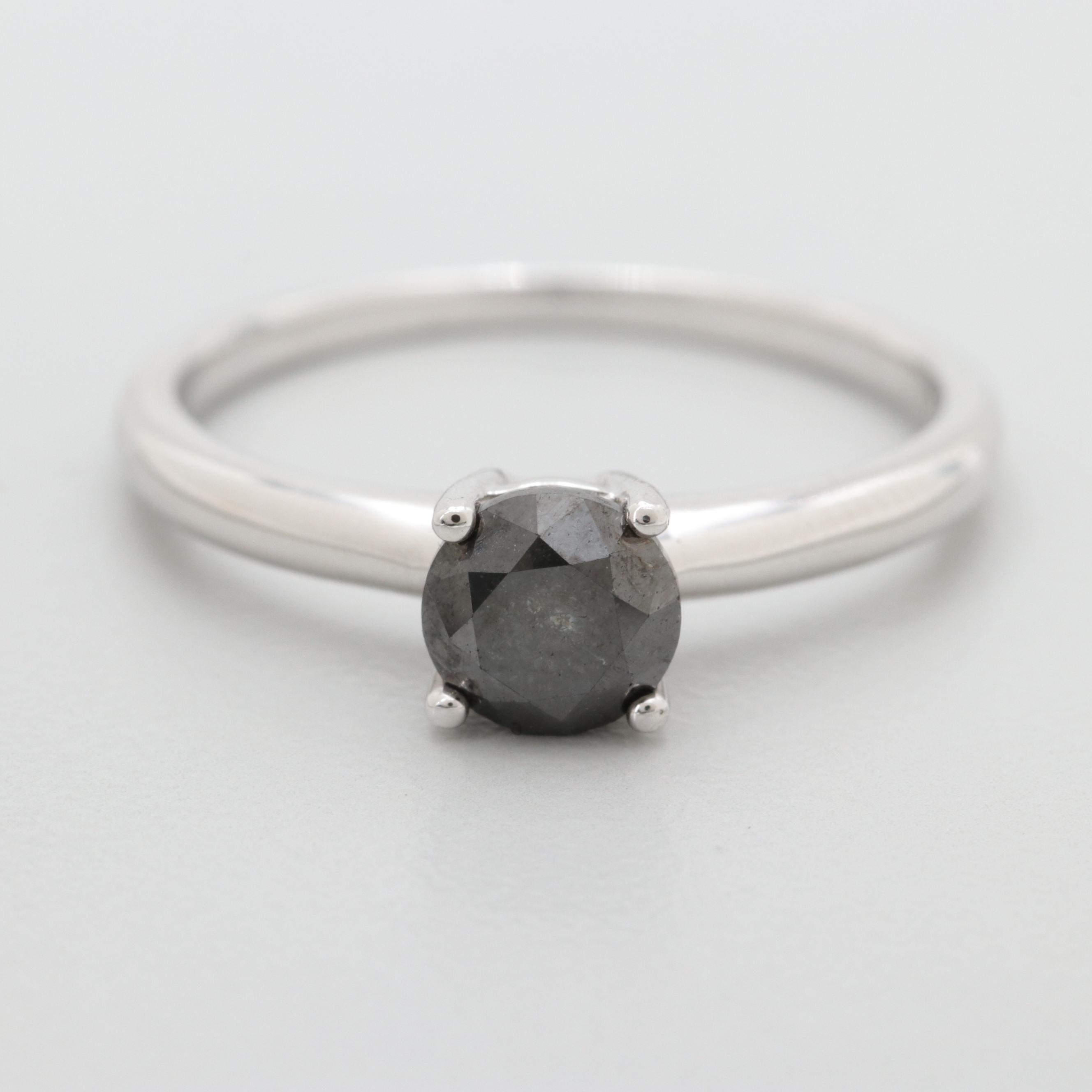 Sterling Silver Black 1.05 CT Diamond Ring