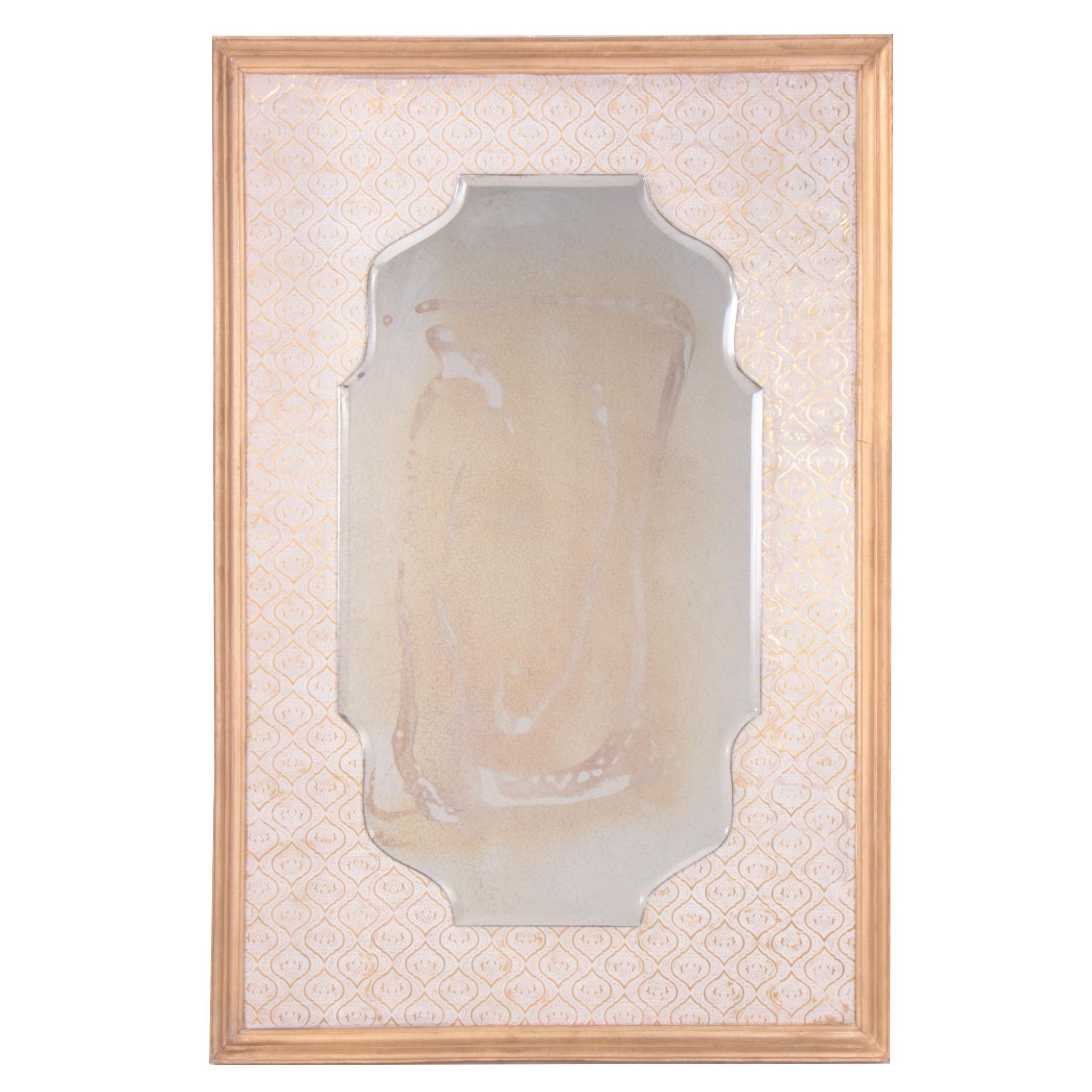 """Indian Giltwood Frame """"Parlor"""" Beveled Wall Mirror"""