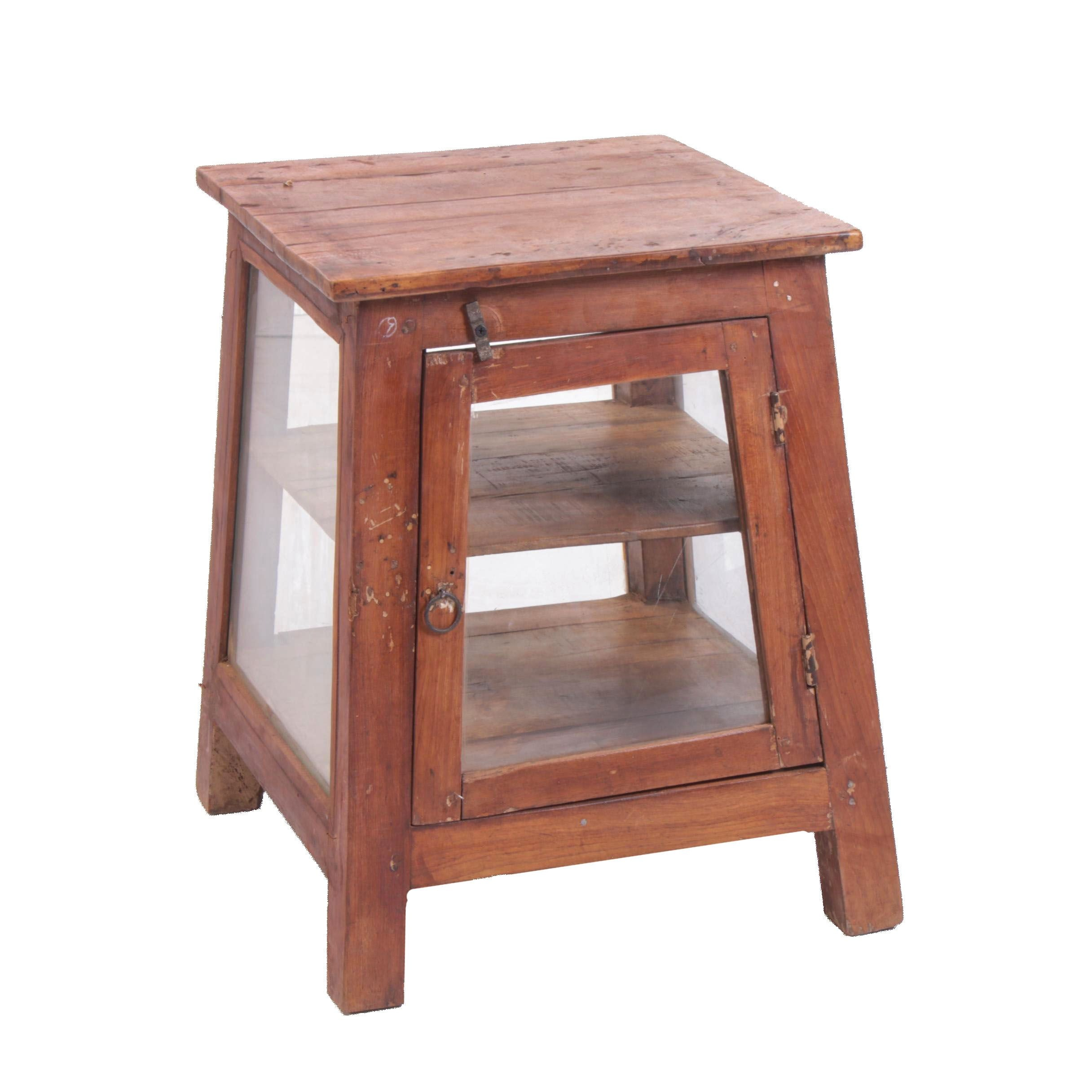 Craftsman Style Hardwood Three-Tier Display Side Table, 21st Century
