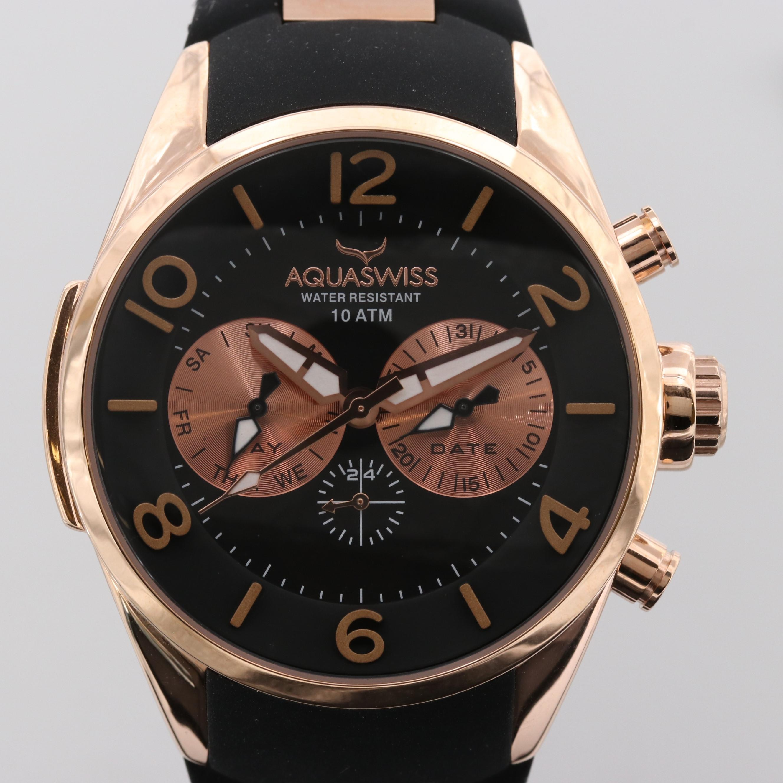 Aquaswiss Trax 5H Rose Gold Tone Quartz Wristwatch