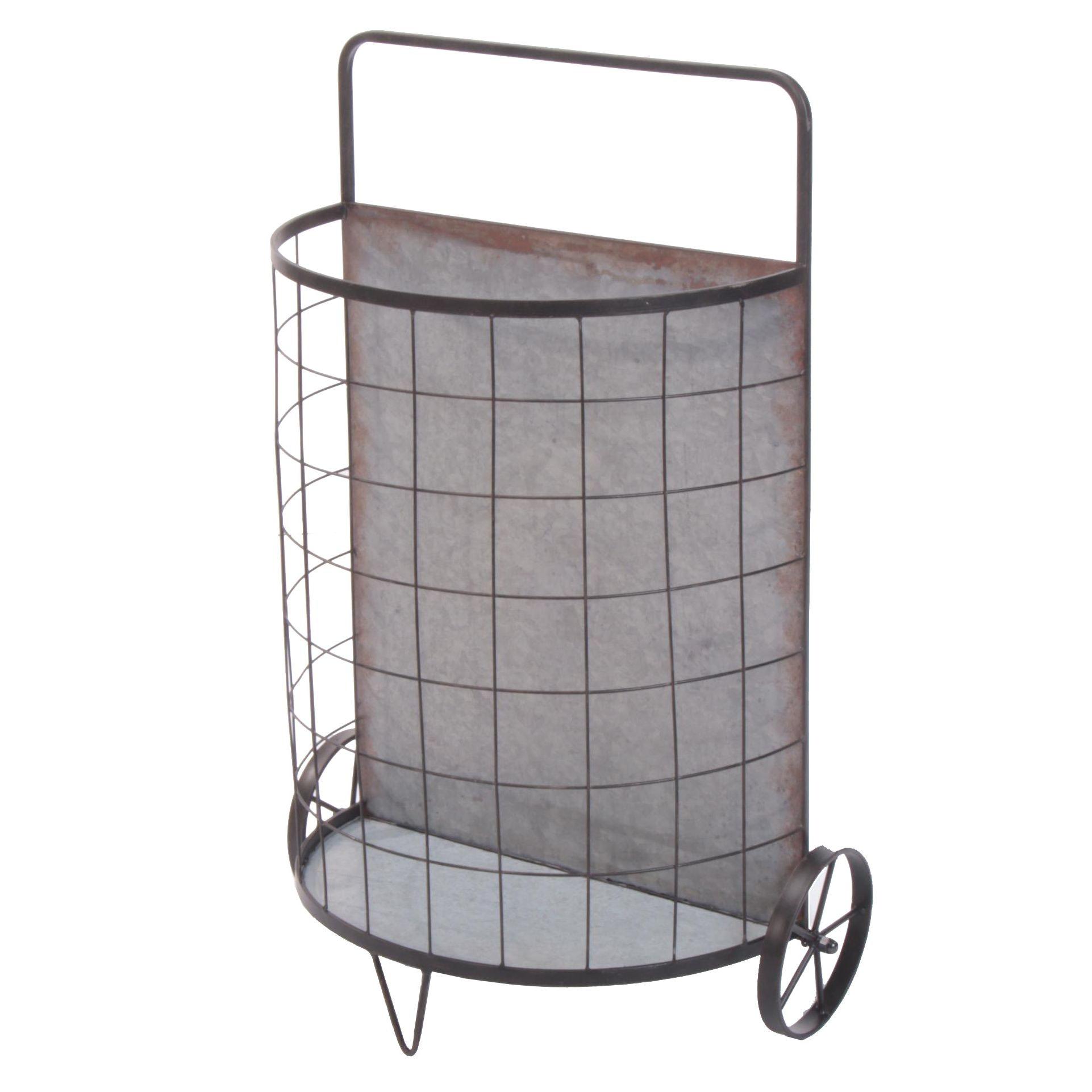 Industrial Style Galvanized Wire Market Cart