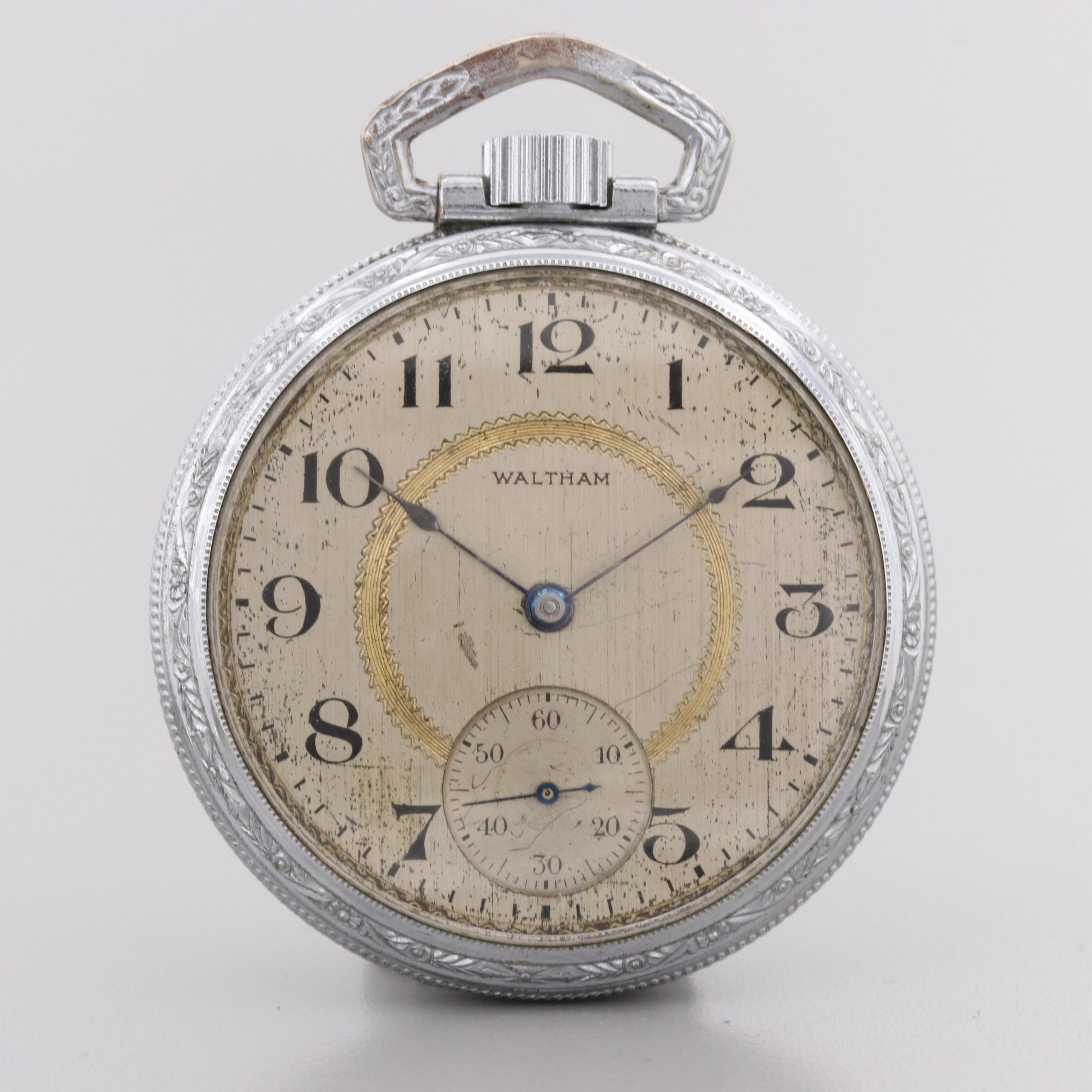 Waltham Silver Tone Pocket Watch, 1922