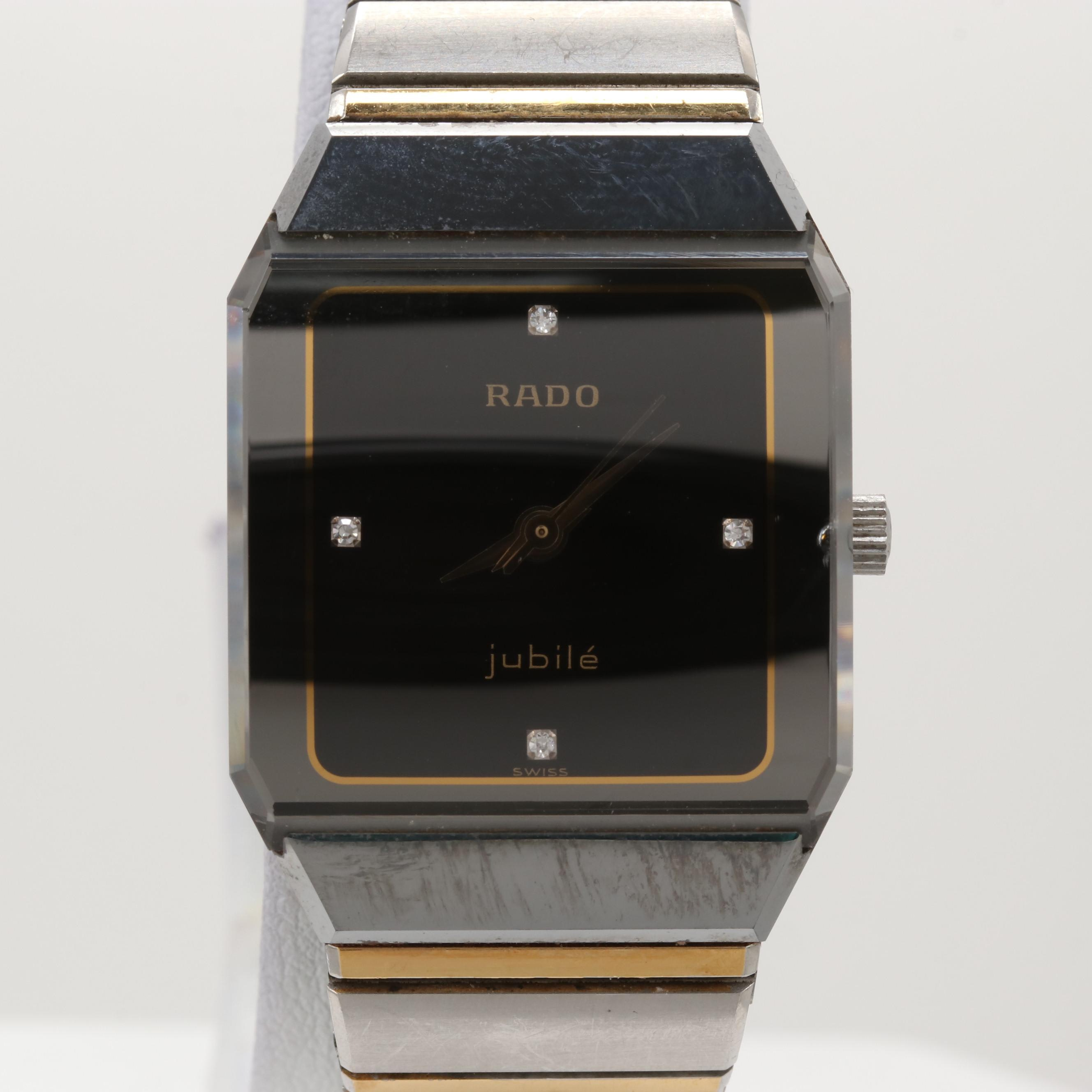 Rado Jubilé Two-Tone Quartz Wristwatch With Diamond Dial