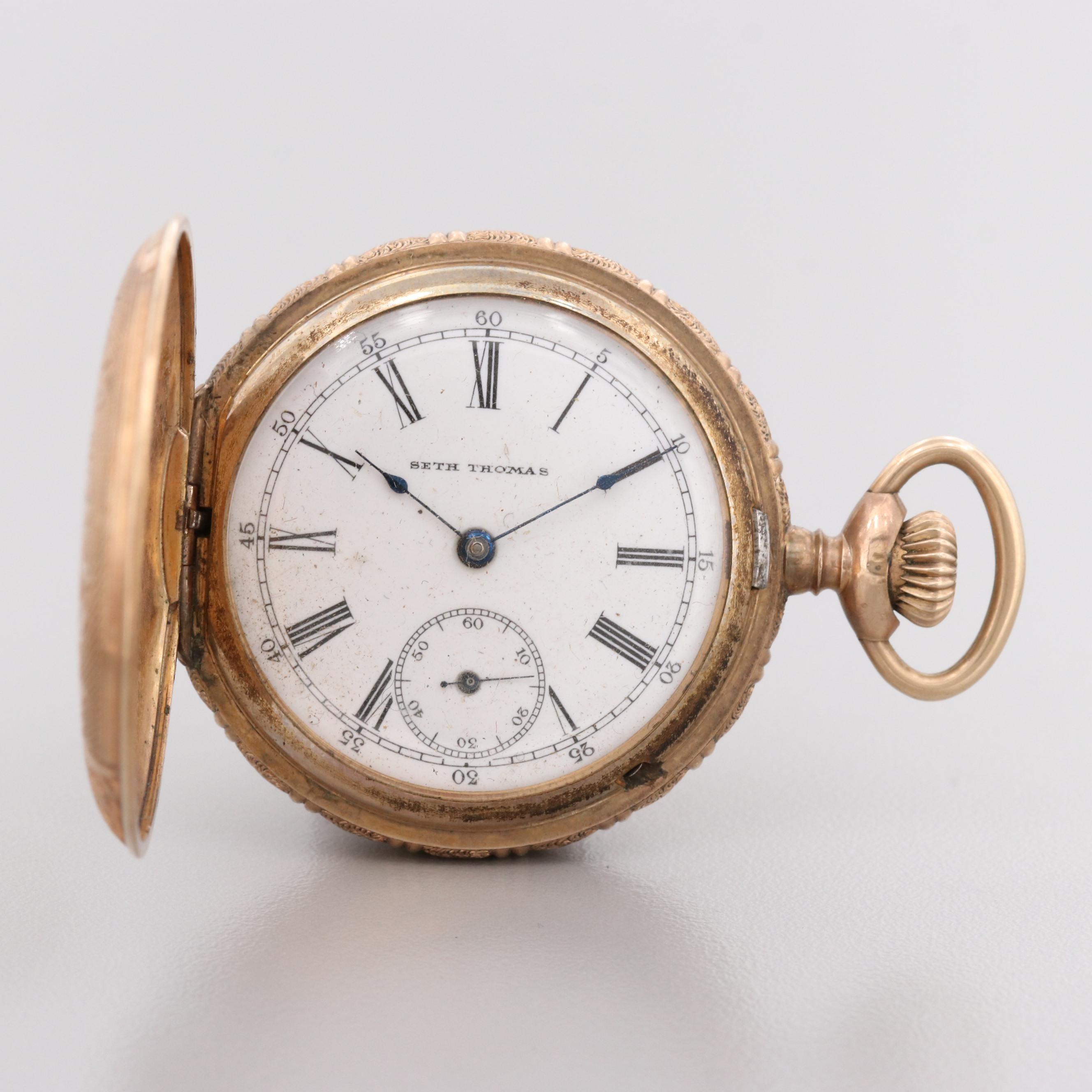 Seth Thomas Gold Filled Pocket Watch