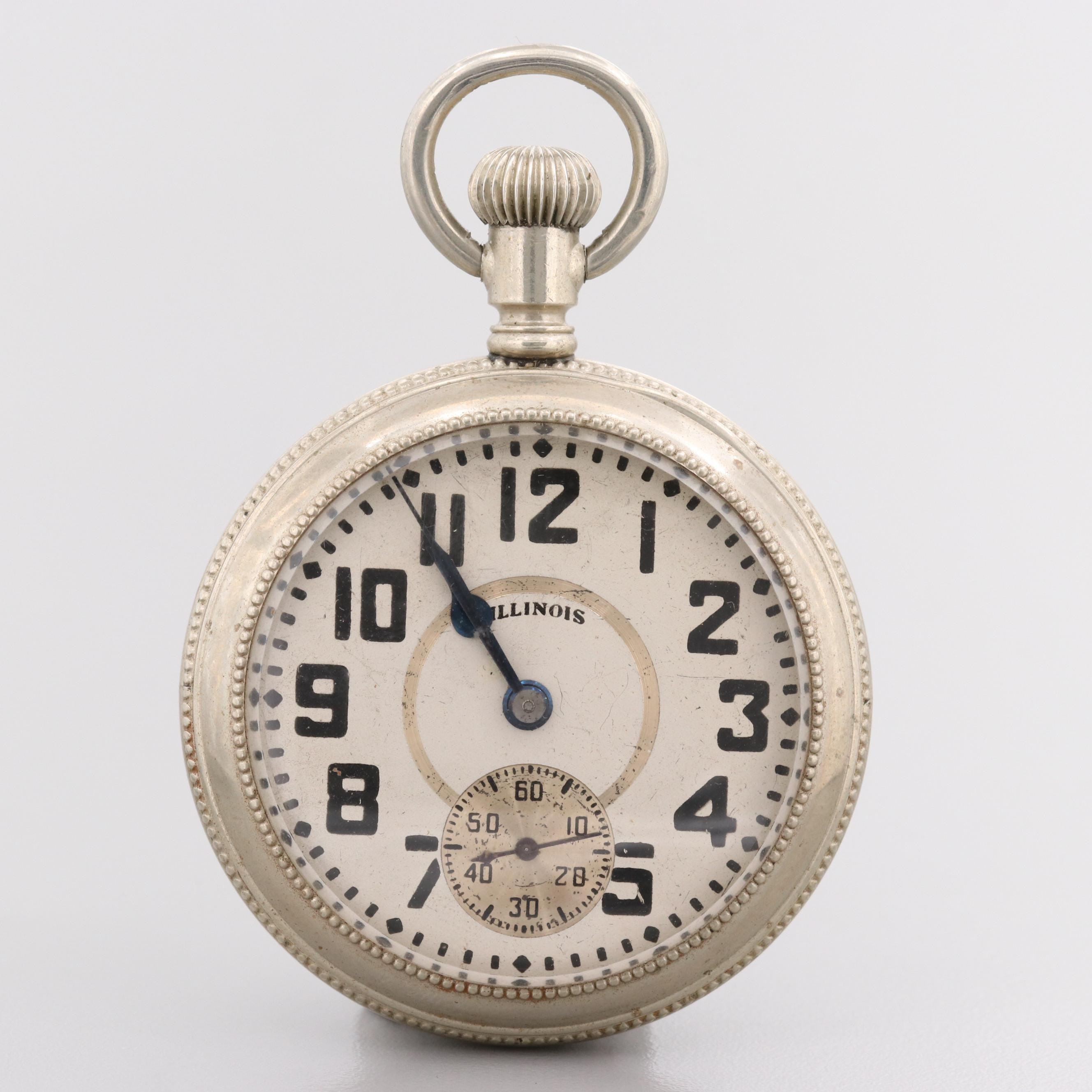 Illinois Bunn Special Pocket Watch With Display Back, 1923