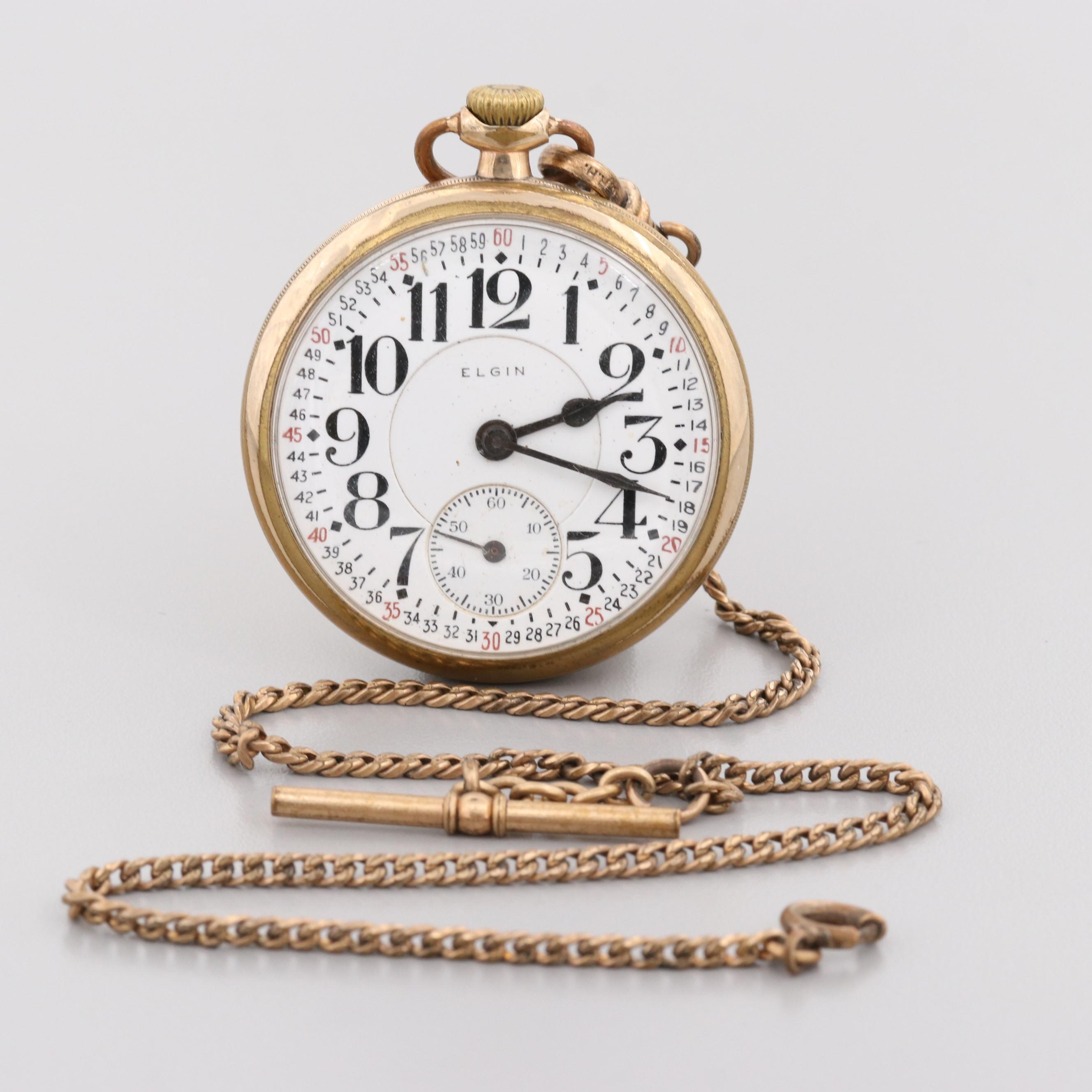 Elgin B.W. Raymond Gold Filled Pocket Watch, 1912