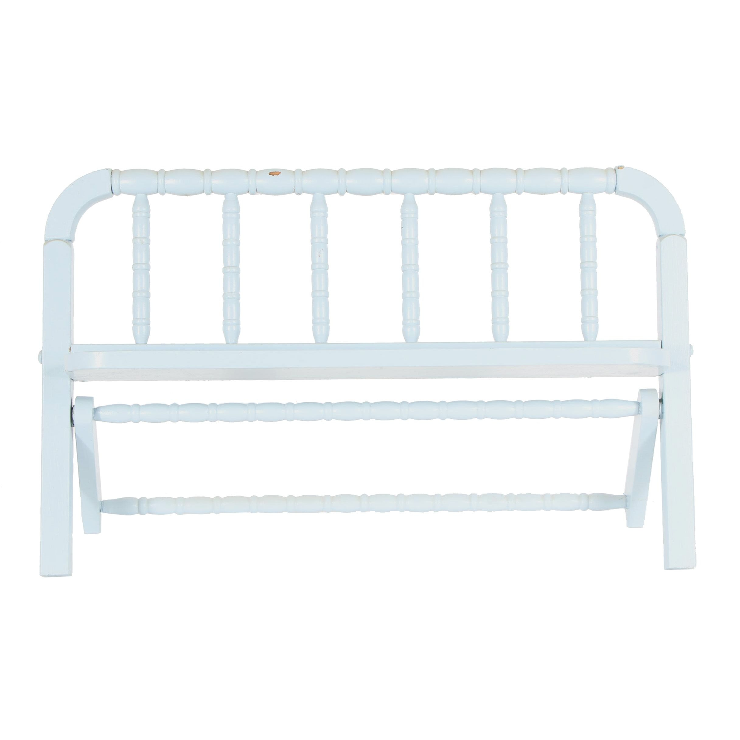 Painted Wood Wall Mount Quilt Rack/Decorative Bench, Late 20th Century