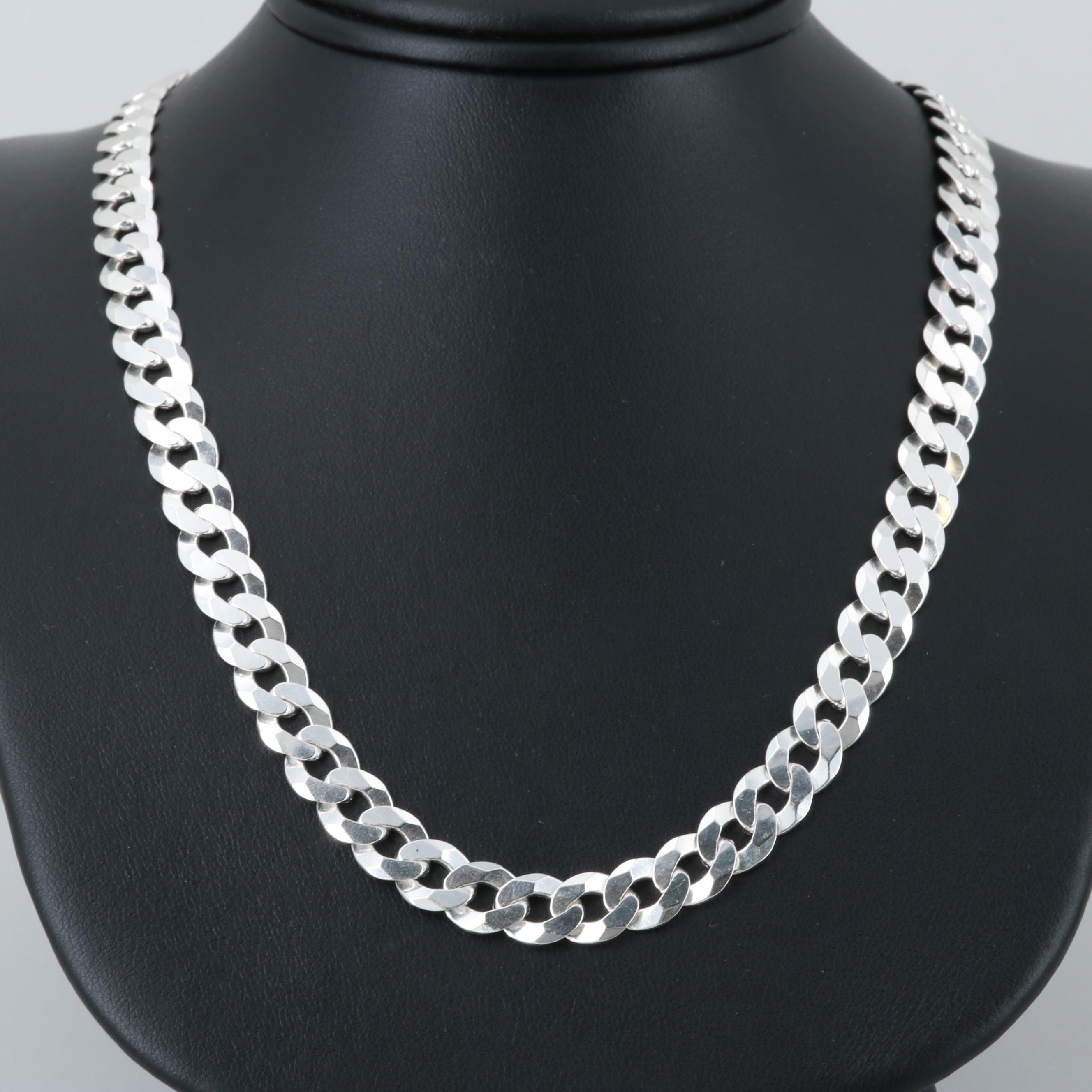 Sterling Silver Curb Link Necklace