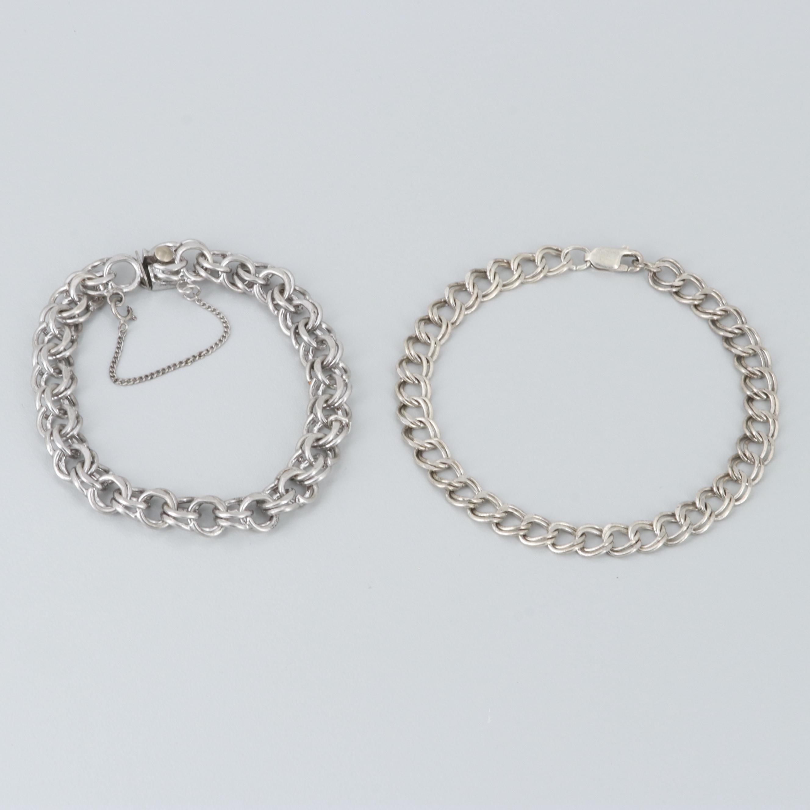 Pair of Vintage Sterling Silver Charm Bracelets