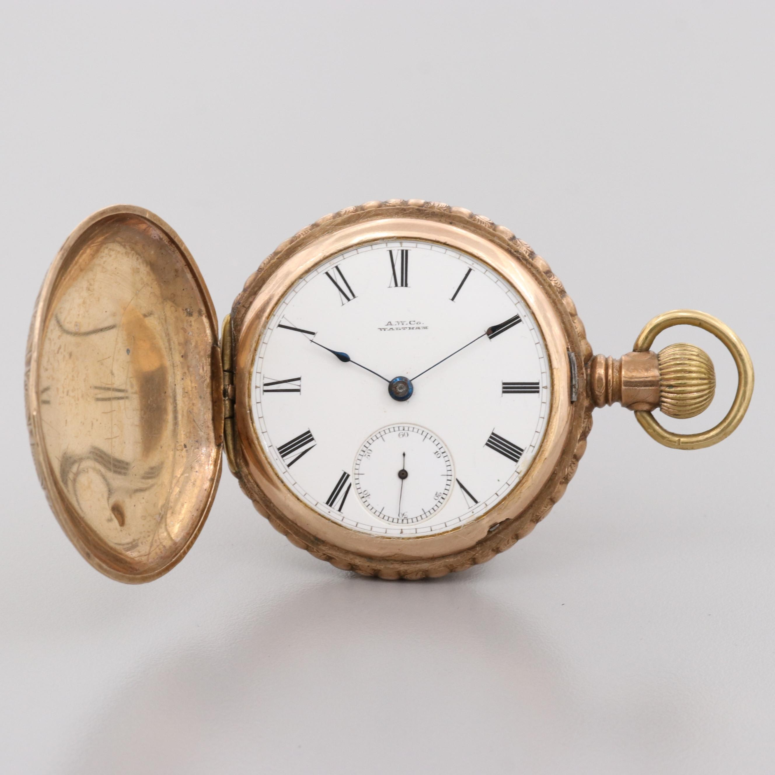 Waltham Gold Filled Pocket Watch, 1884