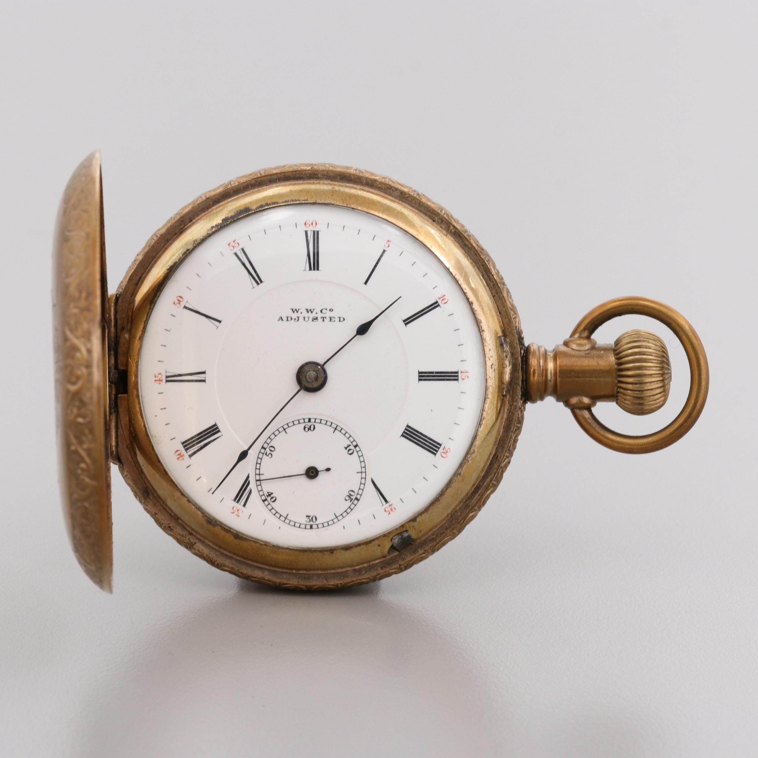 "Swiss Gold Tone ""Fake"" of U.S. Pocket Watch"