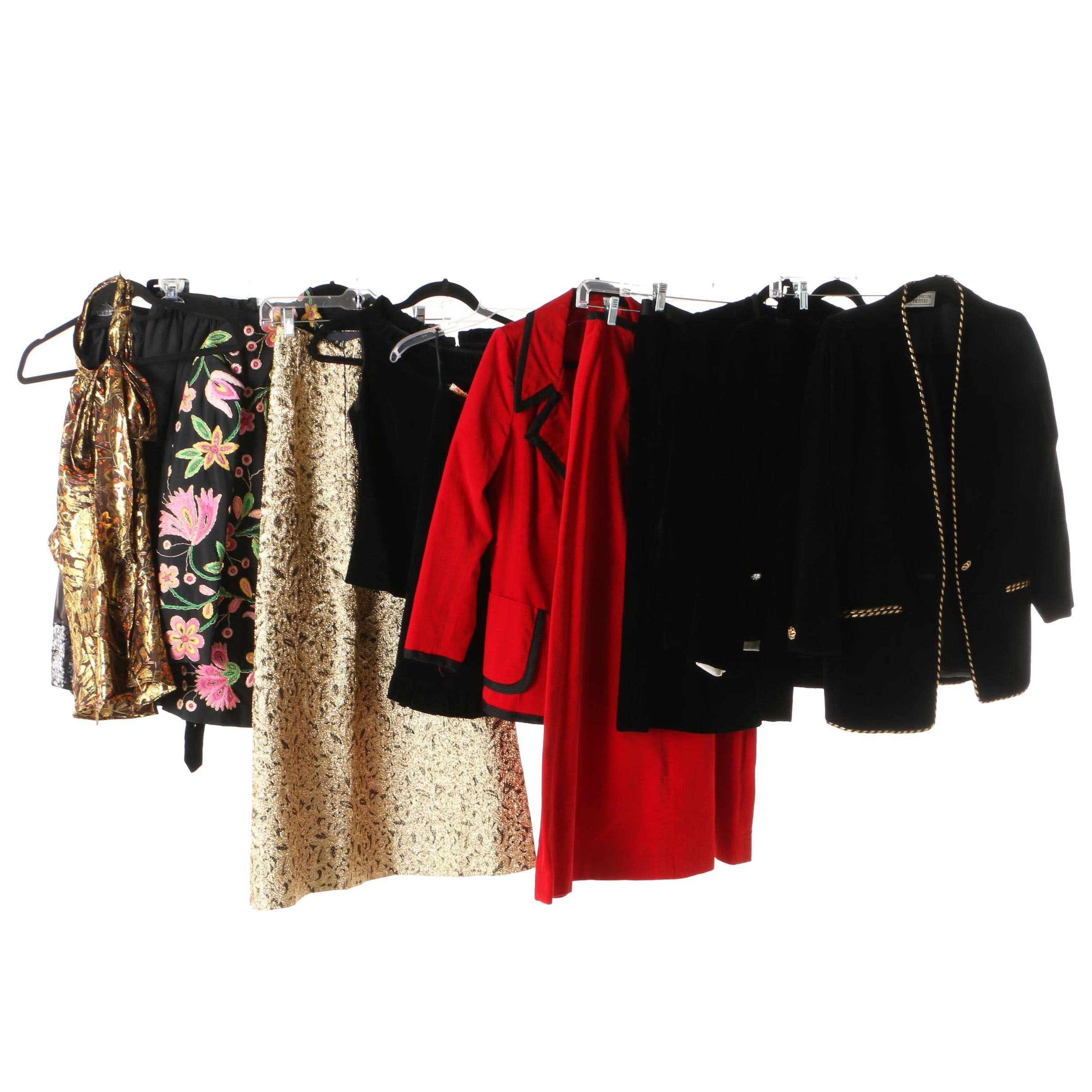 Women's Velvet and Embellished Skirt Suits and Separates Including Evan-Picone